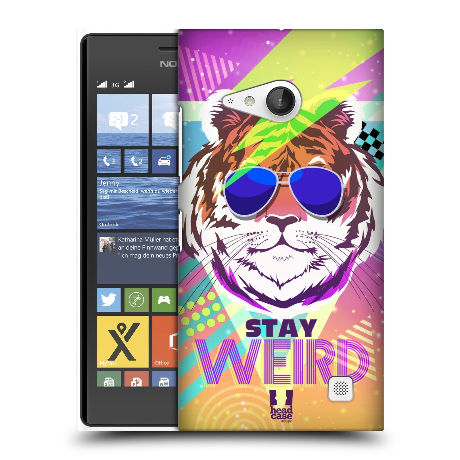 Plastové pouzdro na mobil Nokia Lumia 735 HEAD CASE STAY WEIRD