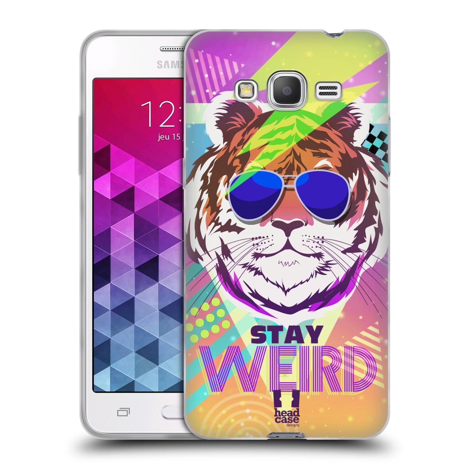 Silikonové pouzdro na mobil Samsung Galaxy Grand Prime HEAD CASE STAY WEIRD
