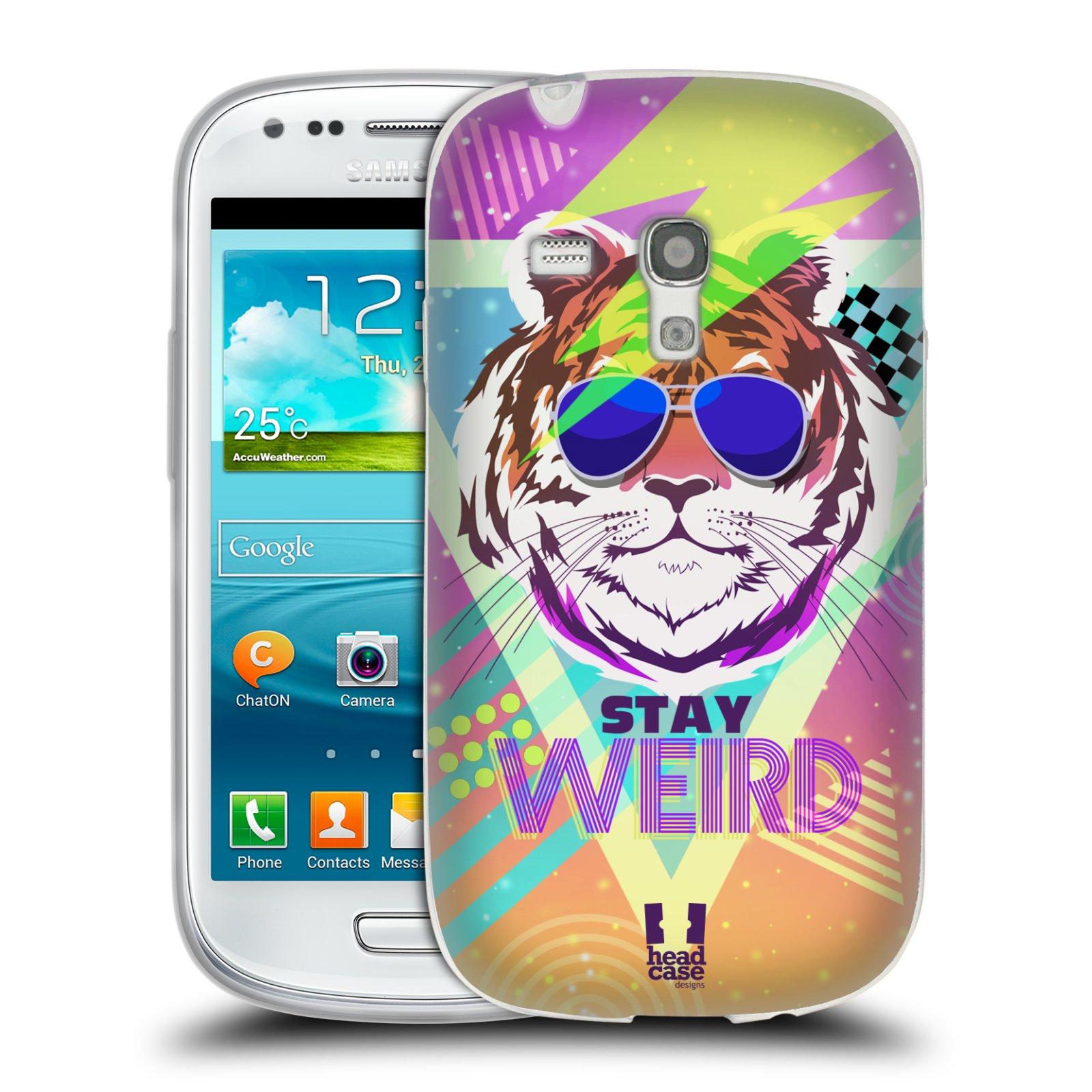 Silikonové pouzdro na mobil Samsung Galaxy S III Mini HEAD CASE STAY WEIRD (Silikonový kryt či obal na mobilní telefon Samsung Galaxy S III Mini GT-i8190)