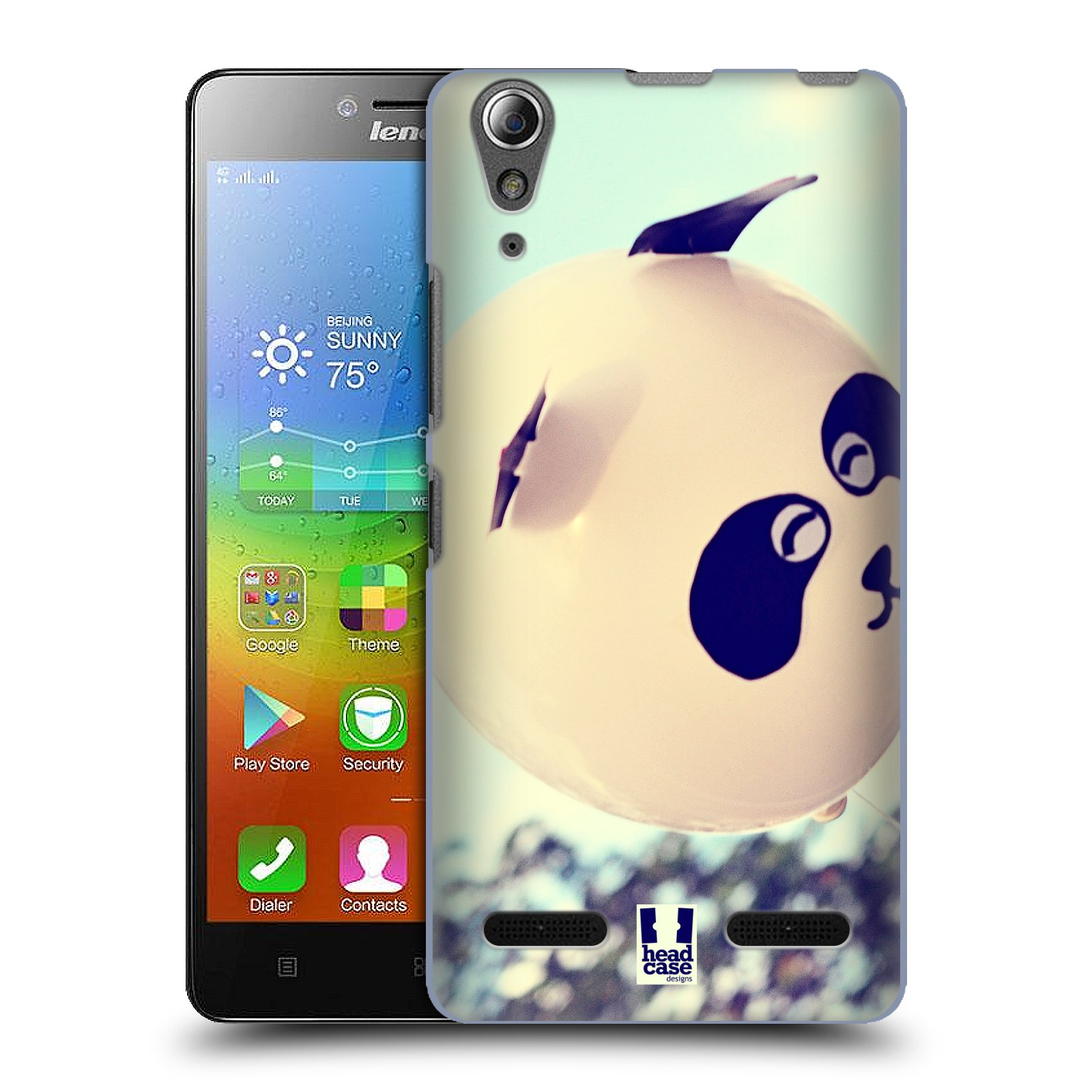 Plastové pouzdro na mobil Lenovo A6000 HEAD CASE BALON PANDA (Kryt či obal na mobilní telefon Lenovo A6000 / A6000 Plus)