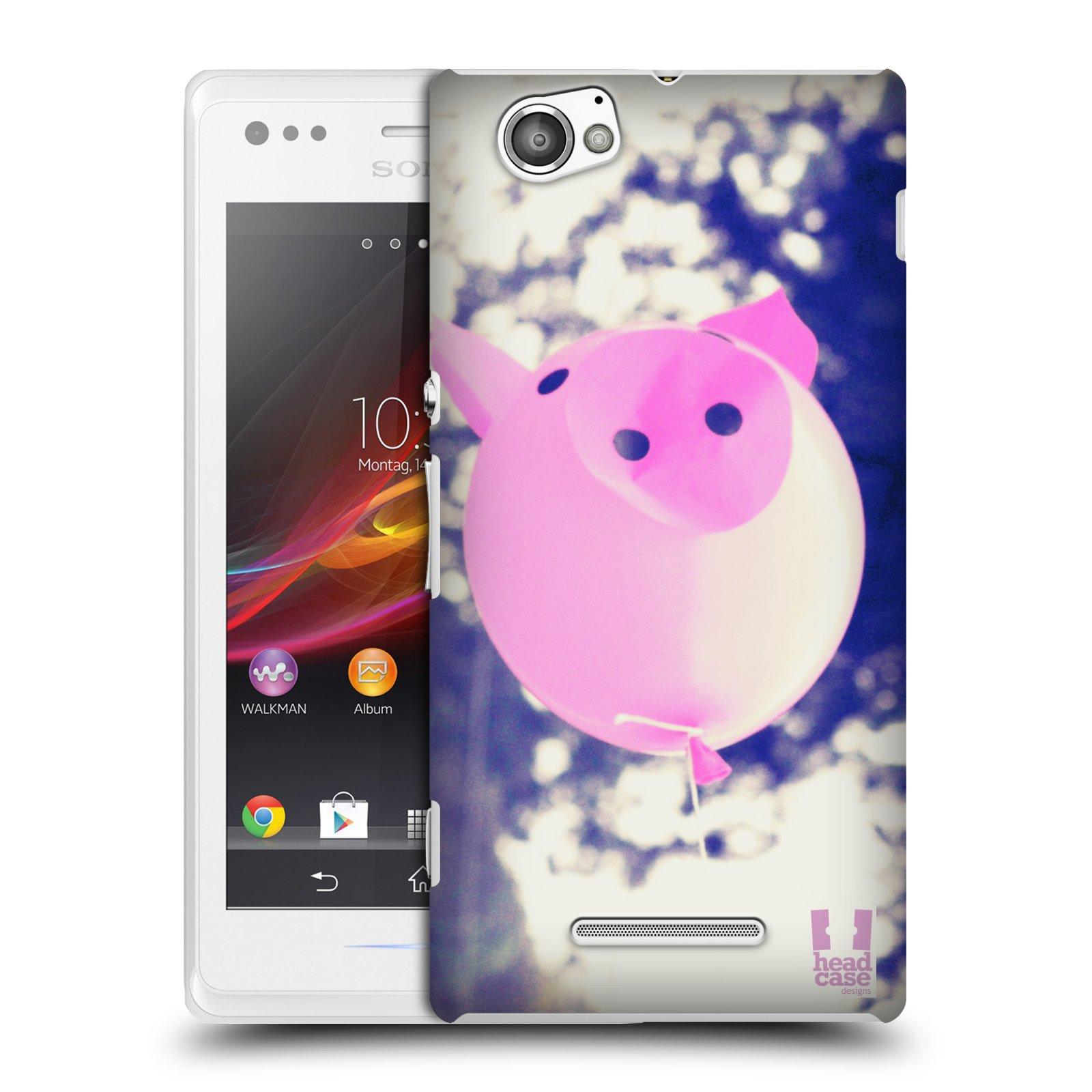 Plastové pouzdro na mobil Sony Xperia M C1905 HEAD CASE BALON PAŠÍK