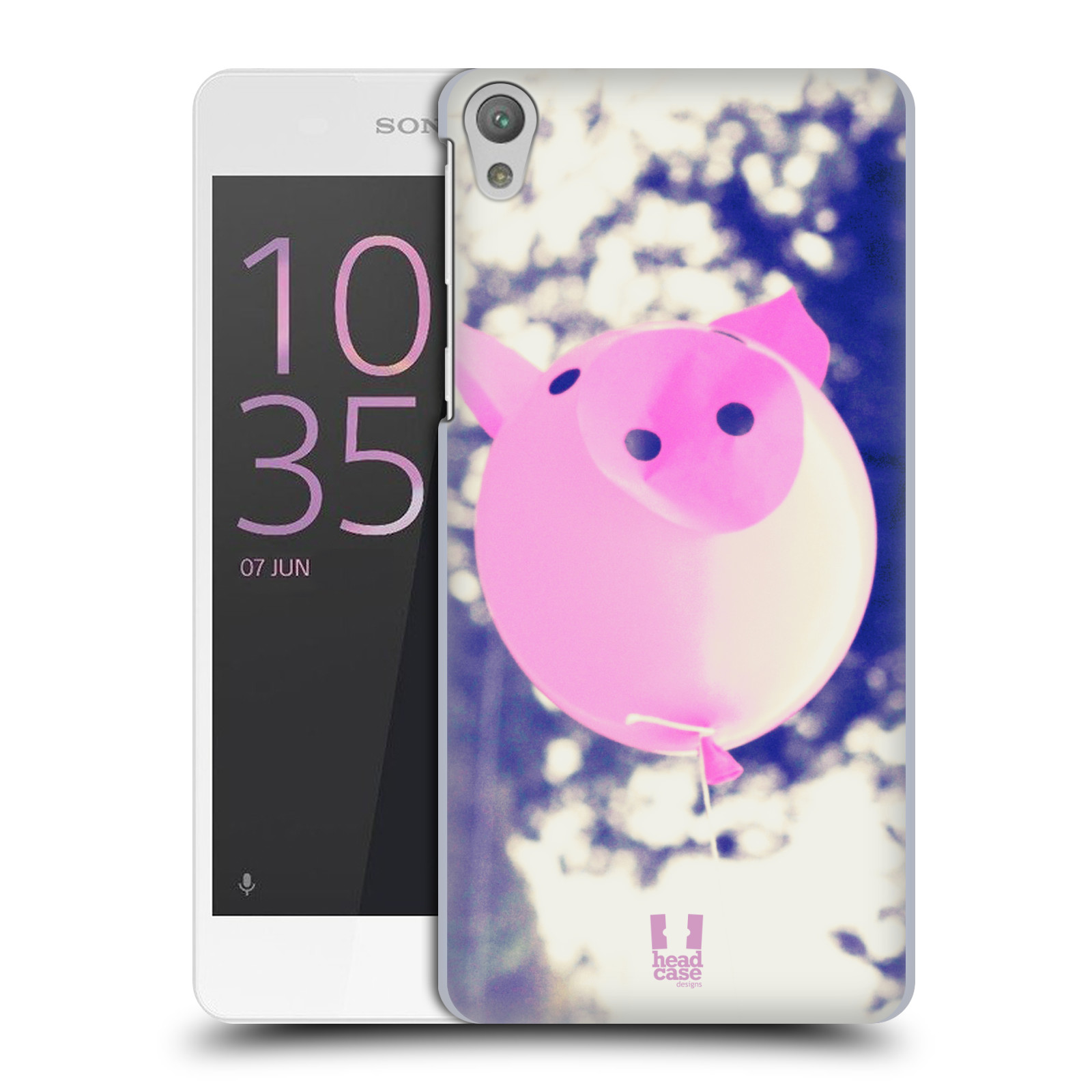 Plastové pouzdro na mobil Sony Xperia E5 HEAD CASE BALON PAŠÍK