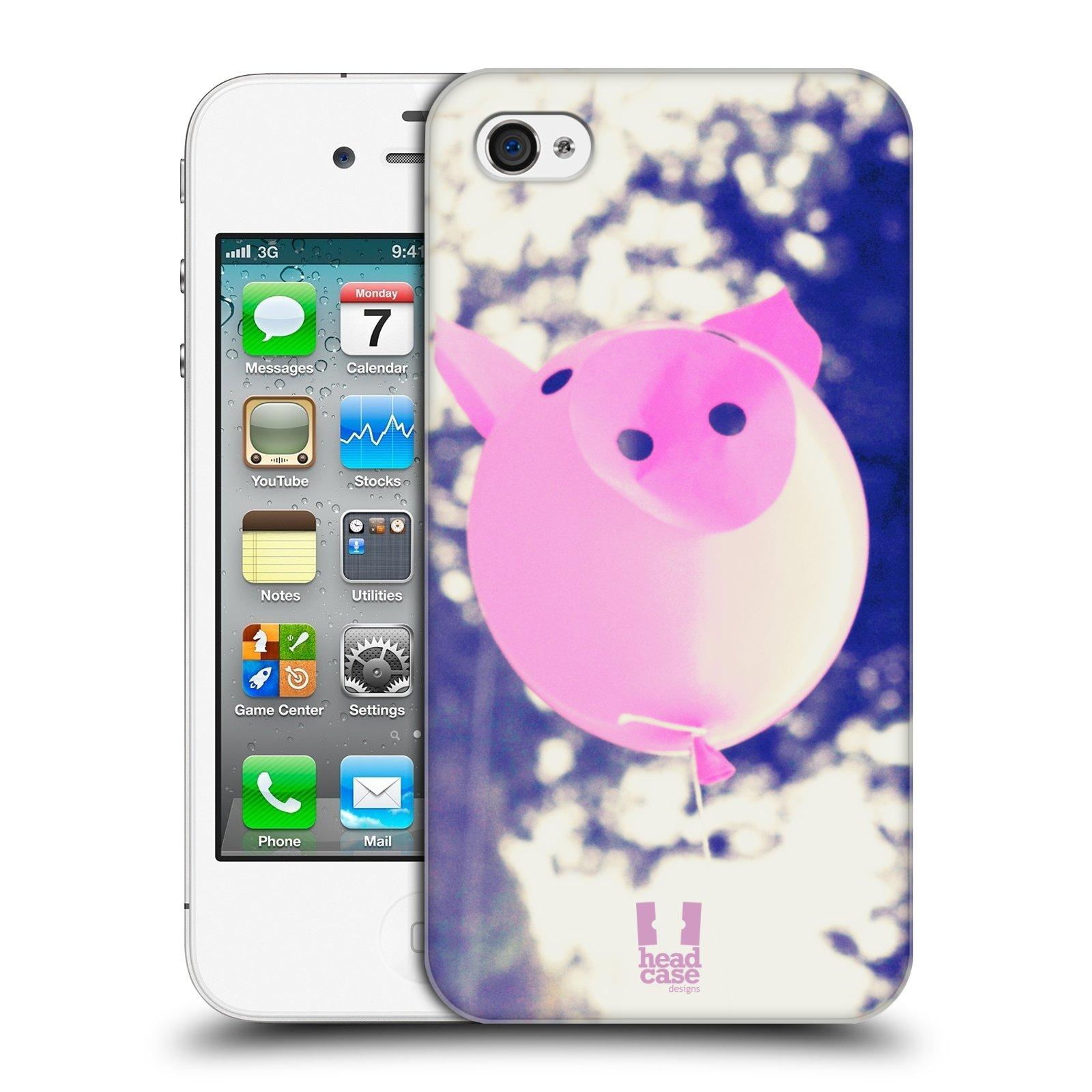 Plastové pouzdro na mobil Apple iPhone 4 a 4S HEAD CASE BALON PAŠÍK