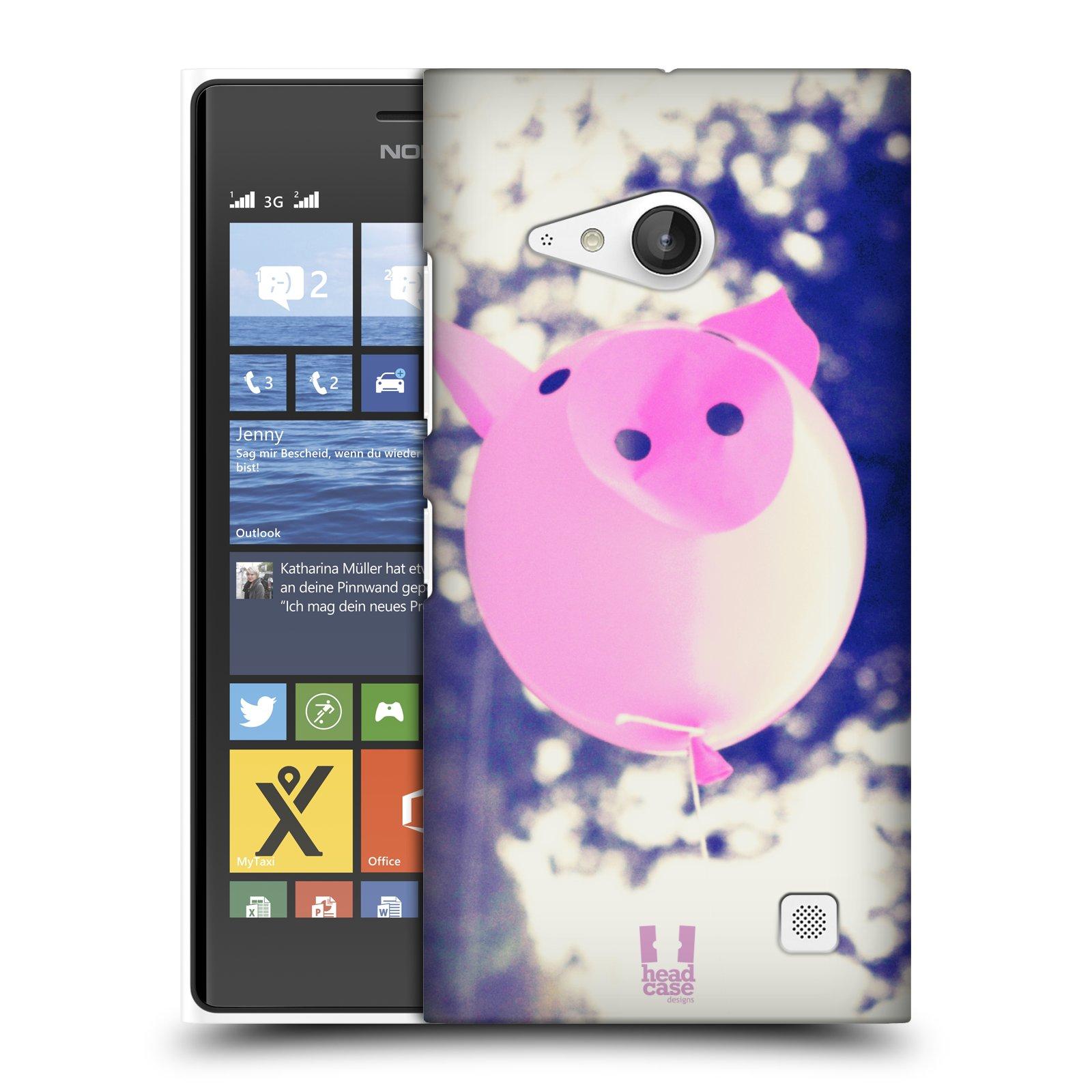 Plastové pouzdro na mobil Nokia Lumia 730 Dual SIM HEAD CASE BALON PAŠÍK