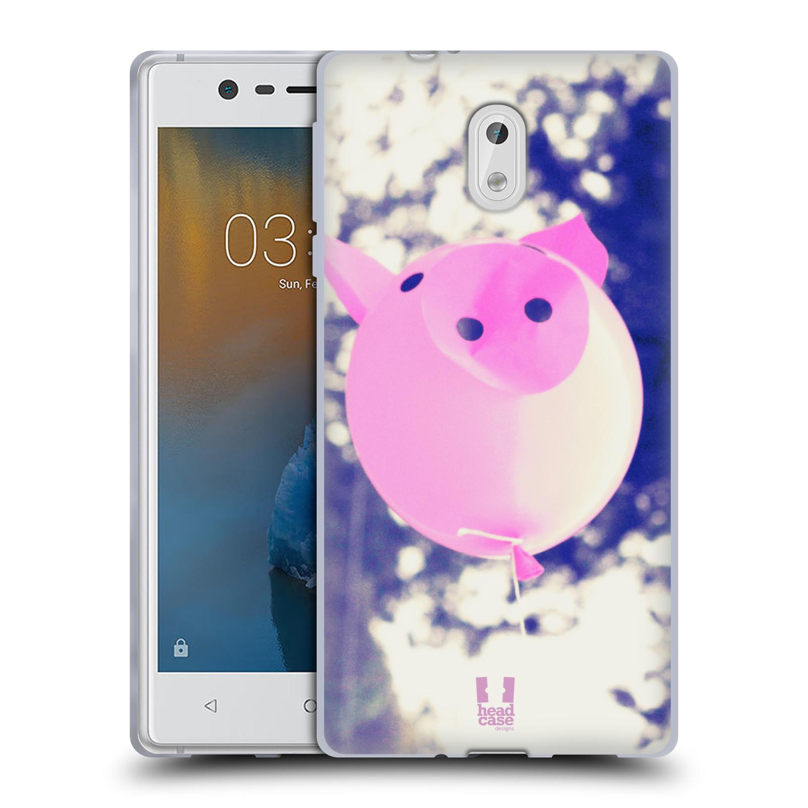 Silikonové pouzdro na mobil Nokia 3 Head Case - BALON PAŠÍK