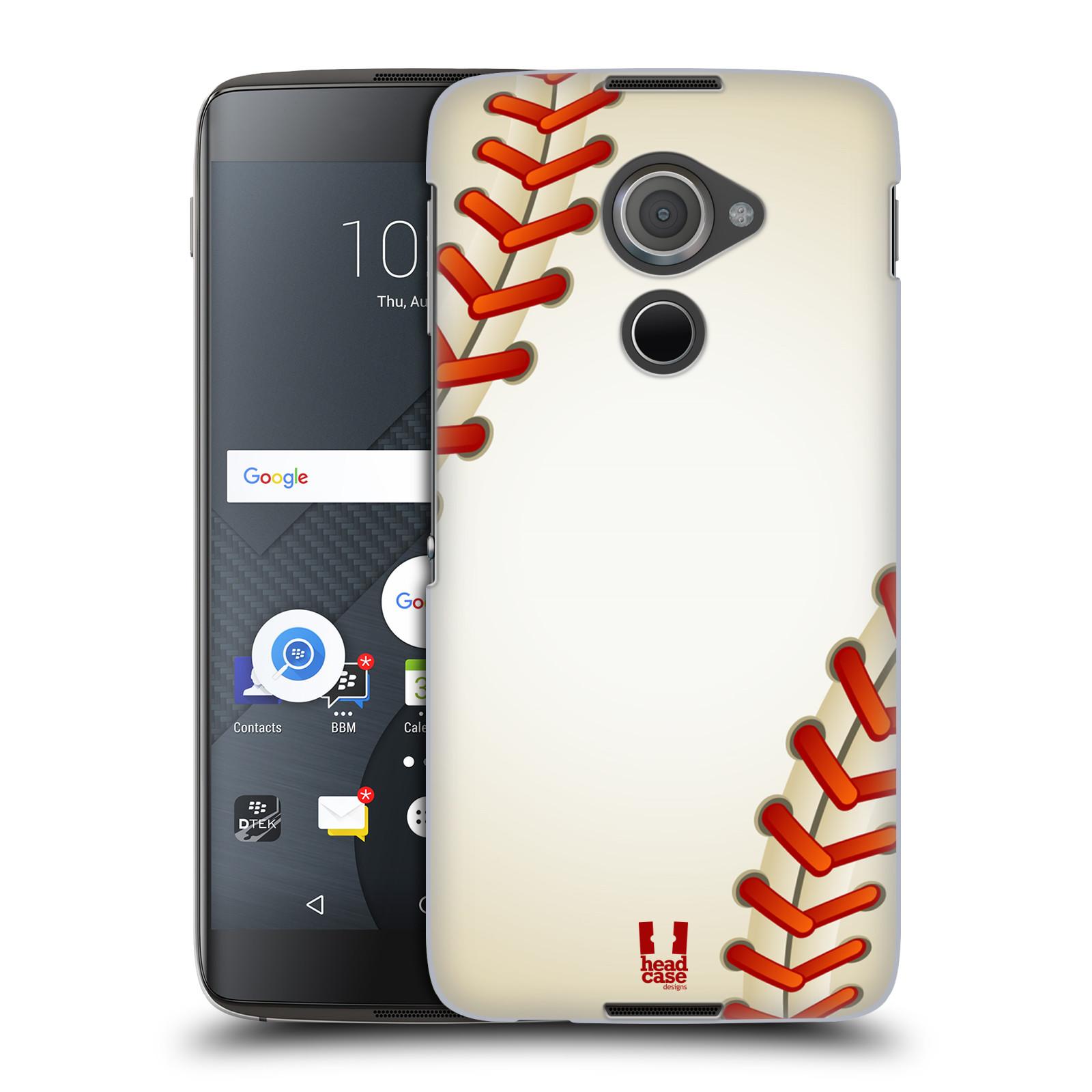 Plastové pouzdro na mobil Blackberry DTEK60 (Argon) - Head Case Baseballový míček