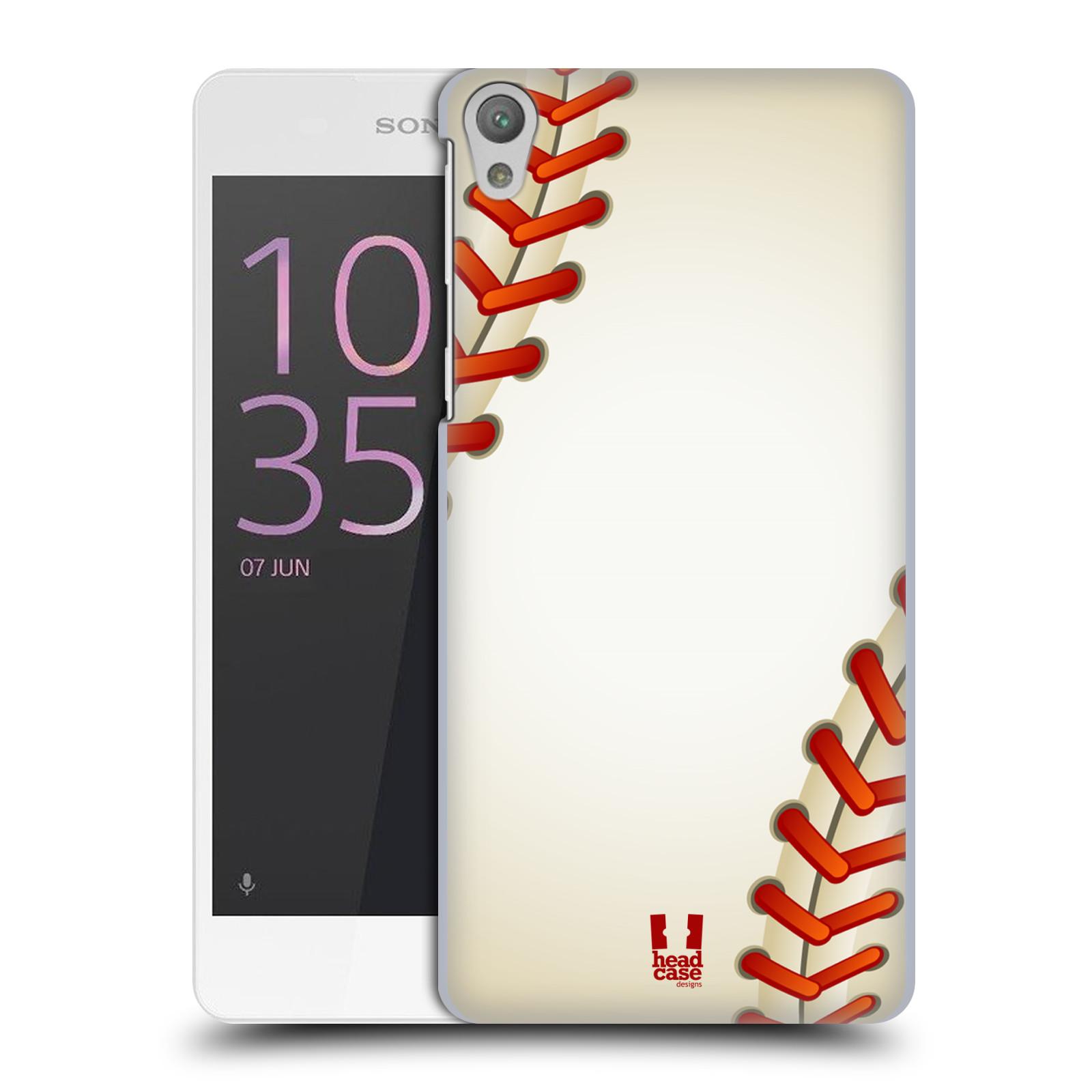 Plastové pouzdro na mobil Sony Xperia E5 HEAD CASE Baseballový míček