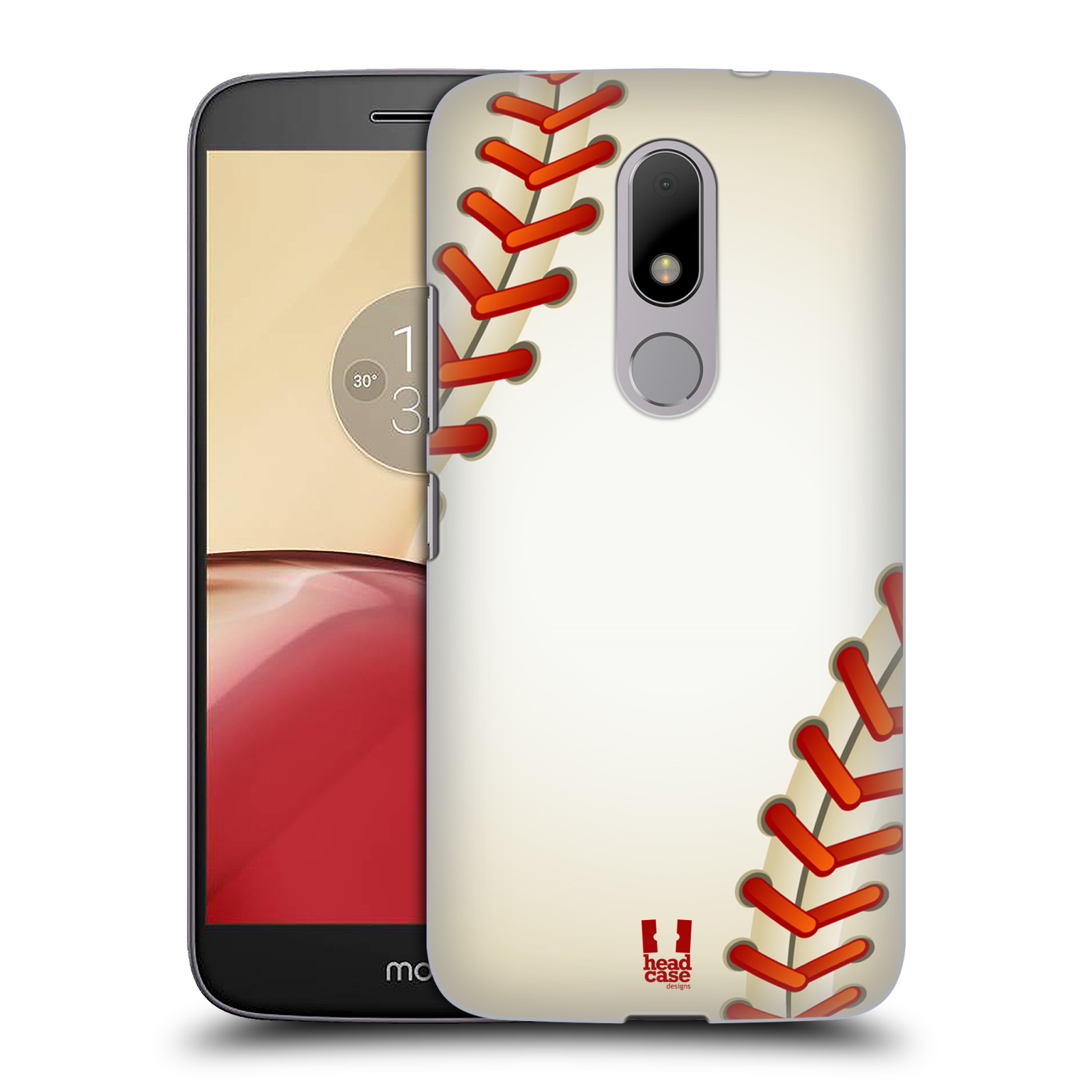 Plastové pouzdro na mobil Lenovo Moto M HEAD CASE Baseballový míček