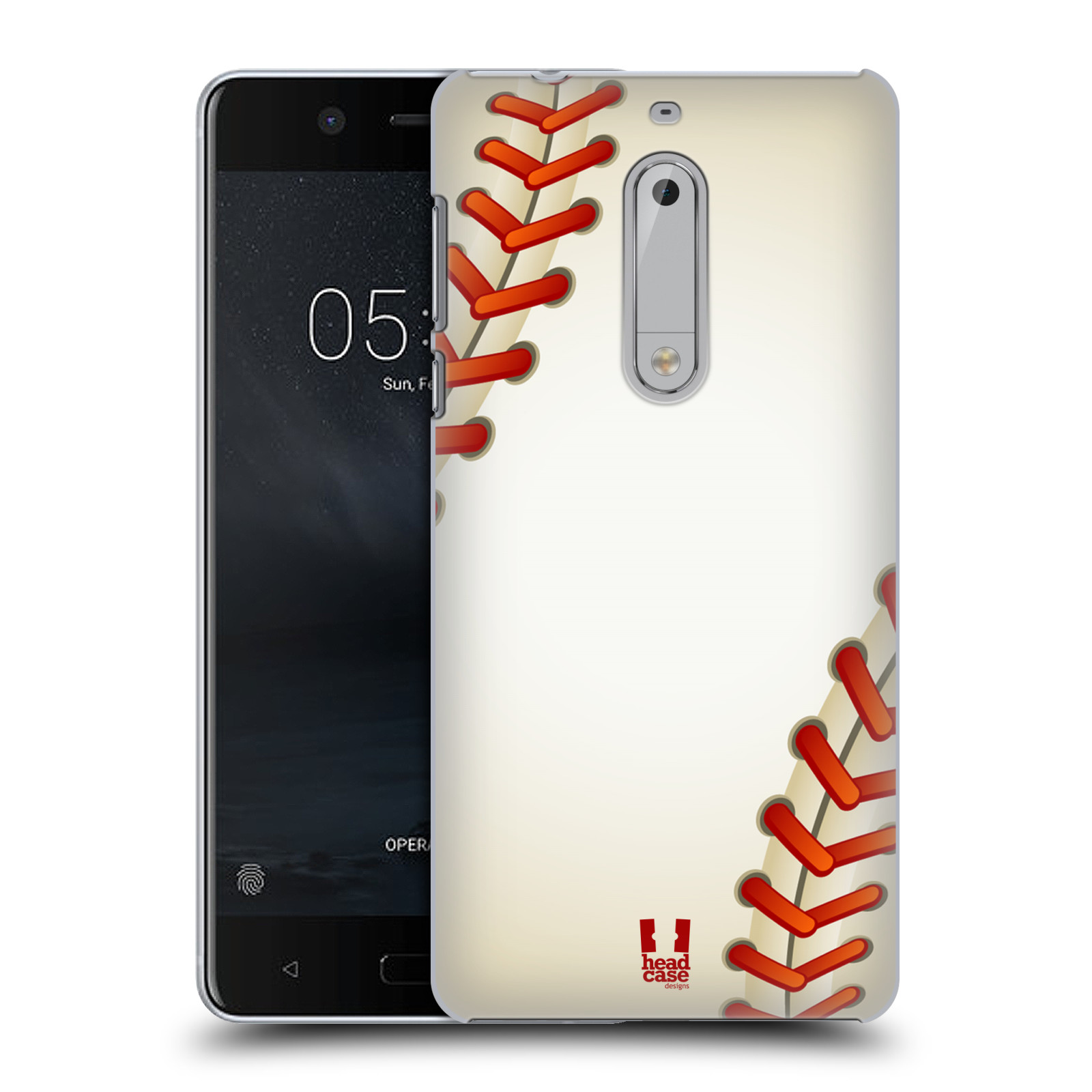 Plastové pouzdro na mobil Nokia 5 Head Case - Baseballový míček
