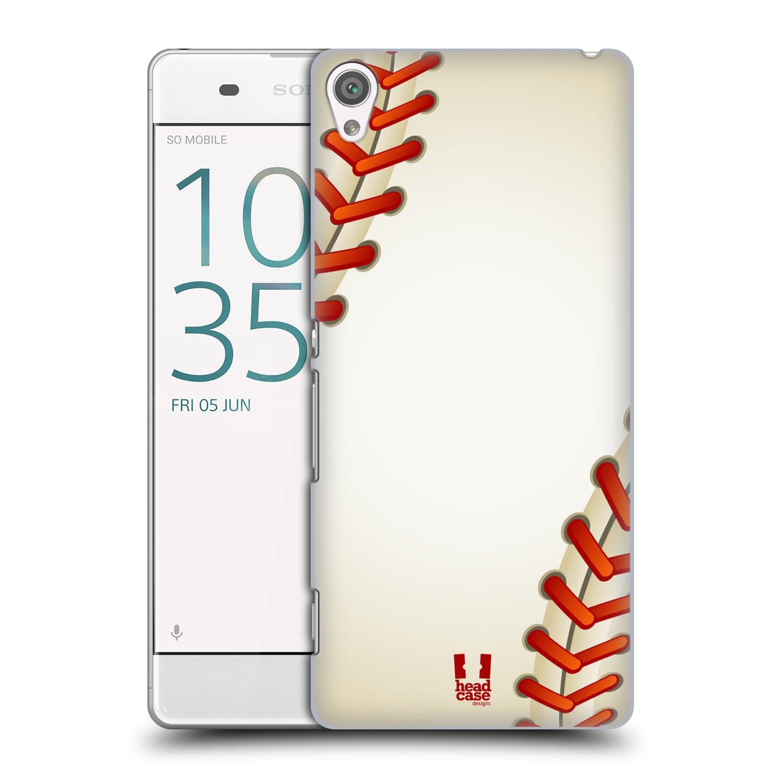 Plastové pouzdro na mobil Sony Xperia XA HEAD CASE Baseballový míček