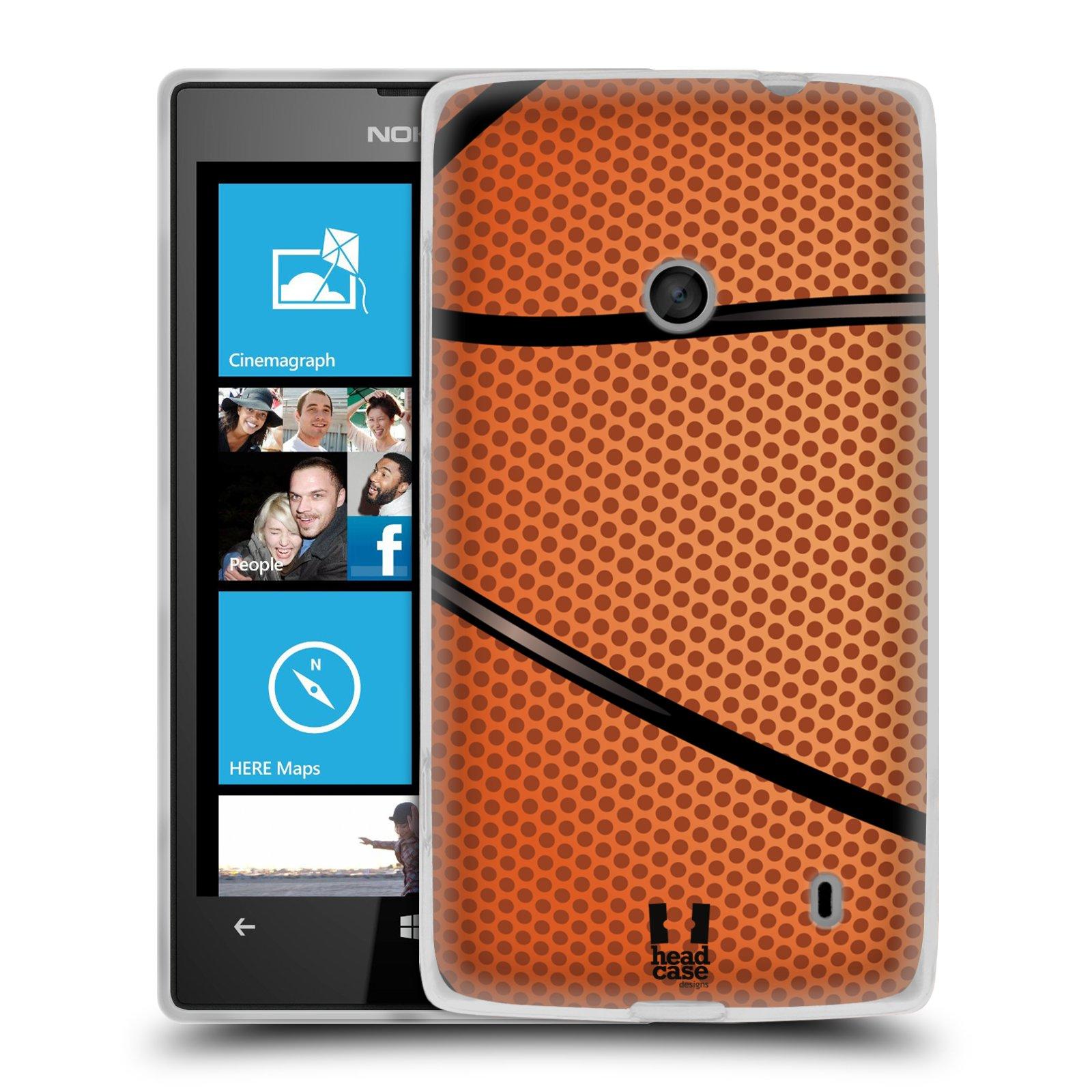 Silikonové pouzdro na mobil Nokia Lumia 520 HEAD CASE BASKEŤÁK (Silikonový Kryt či obal na mobilní telefon Nokia Lumia 520)