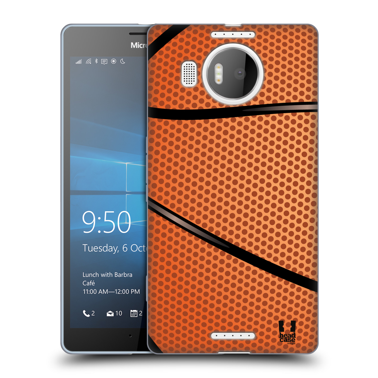 Silikonové pouzdro na mobil Microsoft Lumia 950 XL HEAD CASE BASKEŤÁK