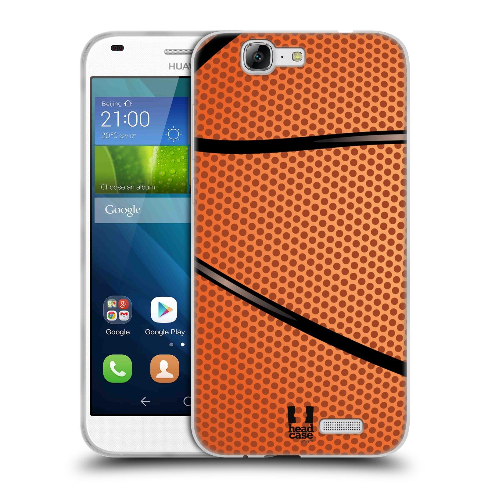 Silikonové pouzdro na mobil Huawei Ascend G7 HEAD CASE BASKEŤÁK (Silikonový kryt či obal na mobilní telefon Huawei Ascend G7)
