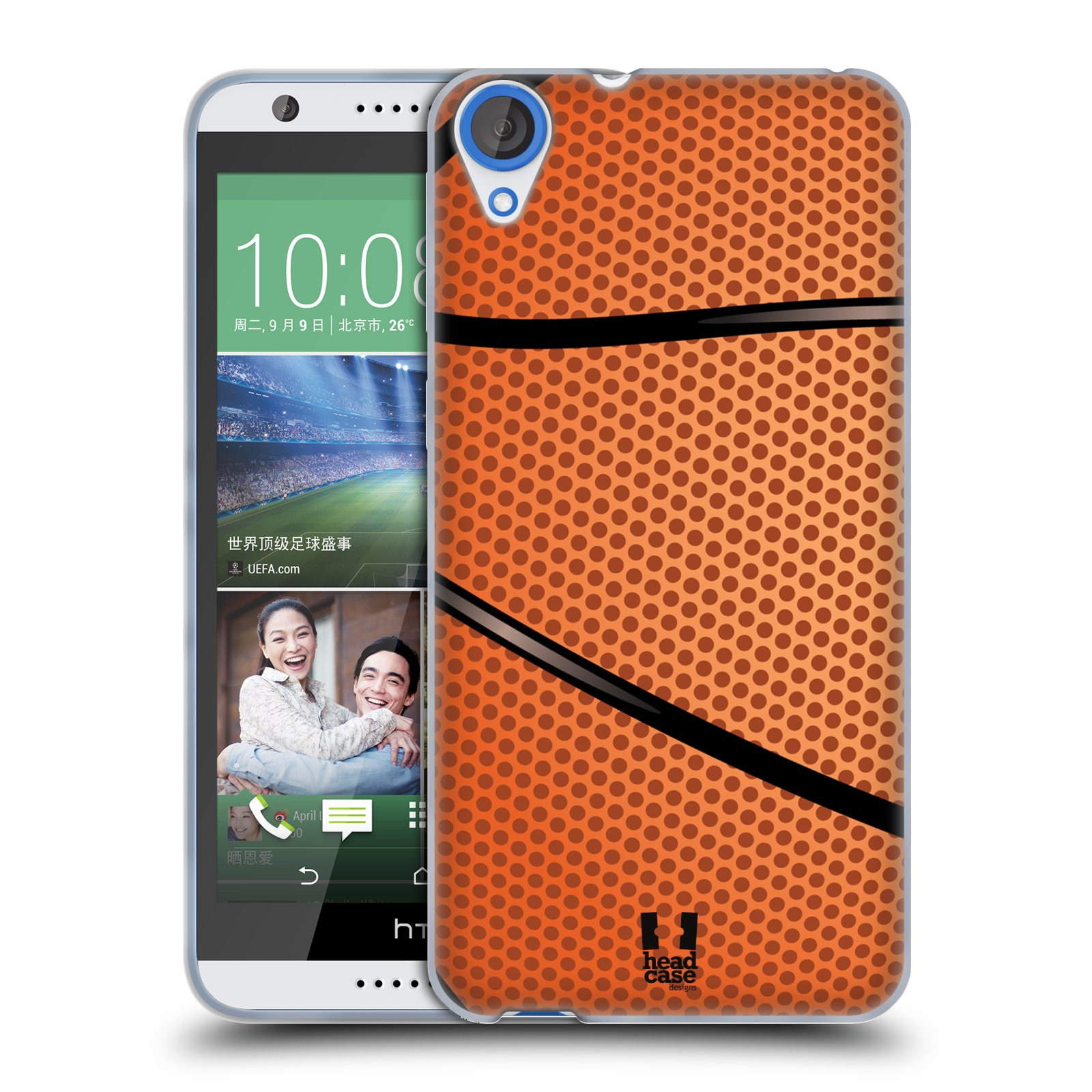 Silikonové pouzdro na mobil HTC Desire 820 HEAD CASE BASKEŤÁK (Silikonový kryt či obal na mobilní telefon HTC Desire 820)