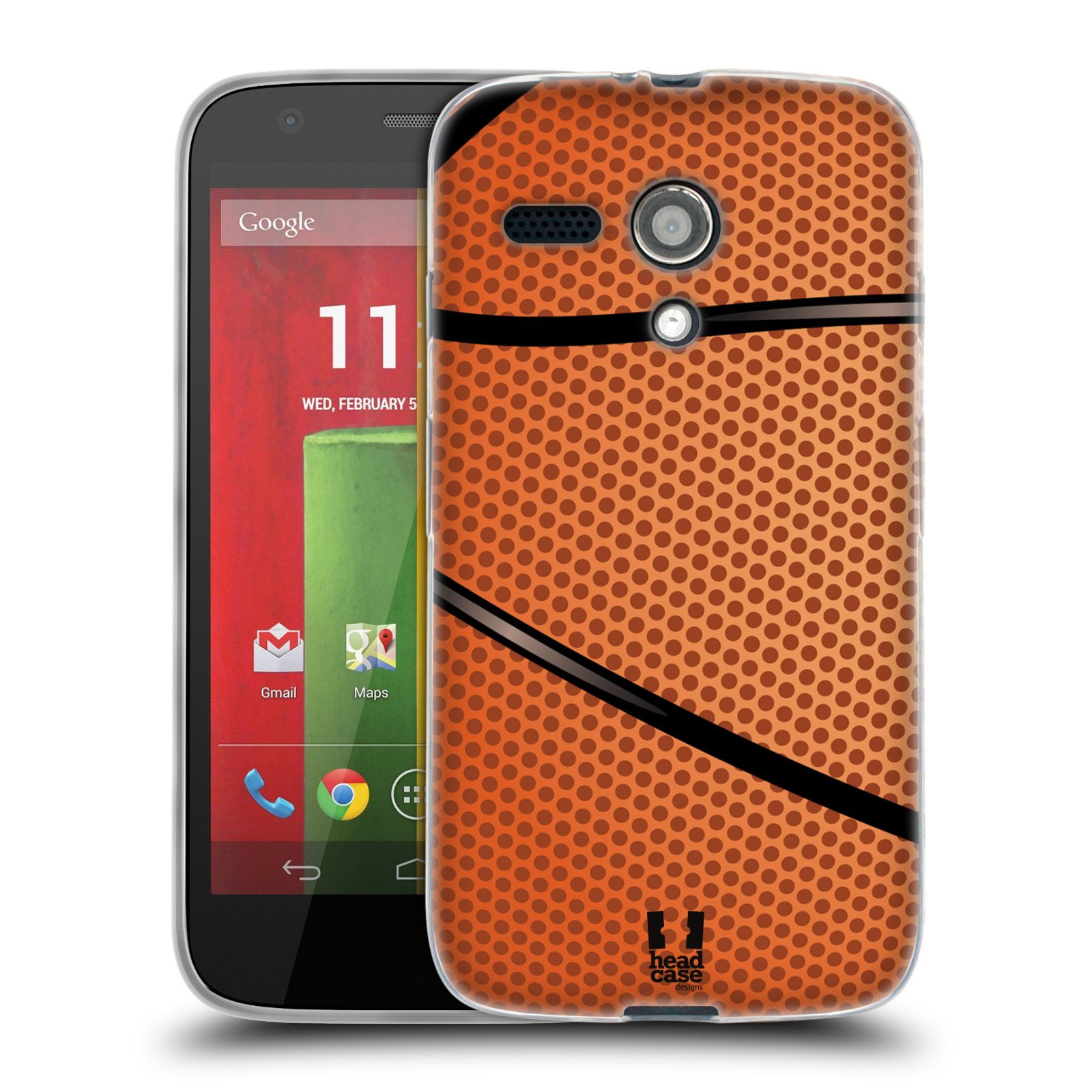 Silikonové pouzdro na mobil Motorola Moto G HEAD CASE BASKEŤÁK (Silikonový kryt či obal na mobilní telefon Motorola Moto G)
