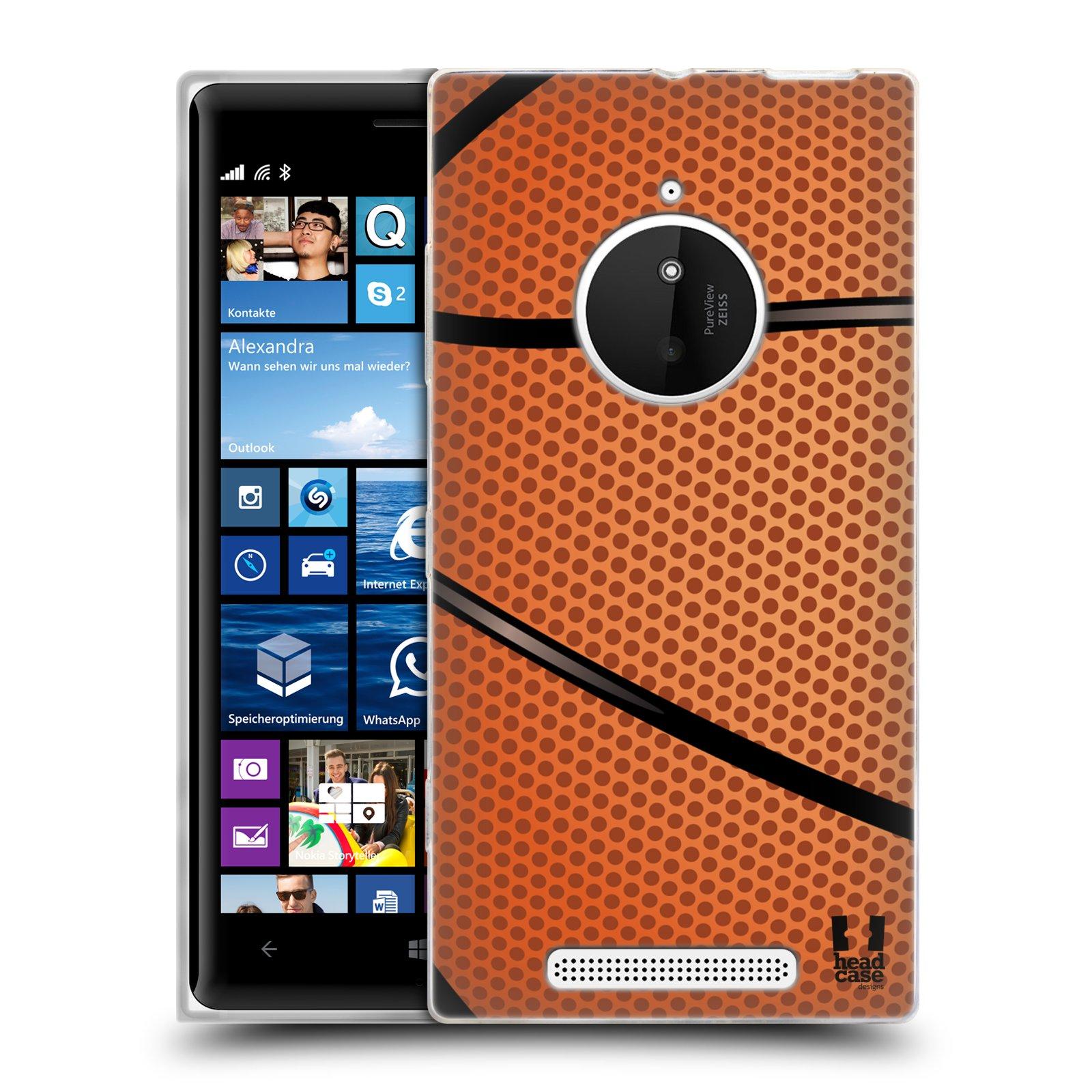 Silikonové pouzdro na mobil Nokia Lumia 830 HEAD CASE BASKEŤÁK (Silikonový kryt či obal na mobilní telefon Nokia Lumia 830)