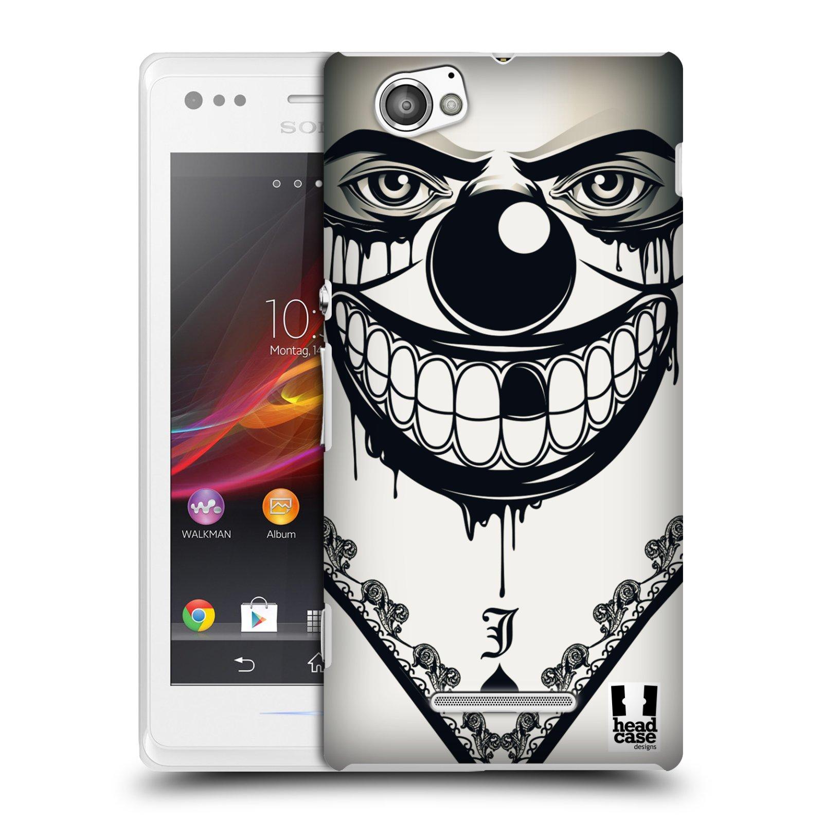 Plastové pouzdro na mobil Sony Xperia M C1905 HEAD CASE ZLEJ KLAUN