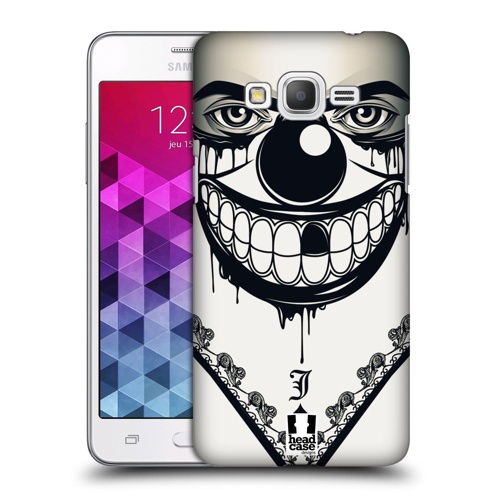 Plastové pouzdro na mobil Samsung Galaxy Grand Prime VE HEAD CASE ZLEJ KLAUN