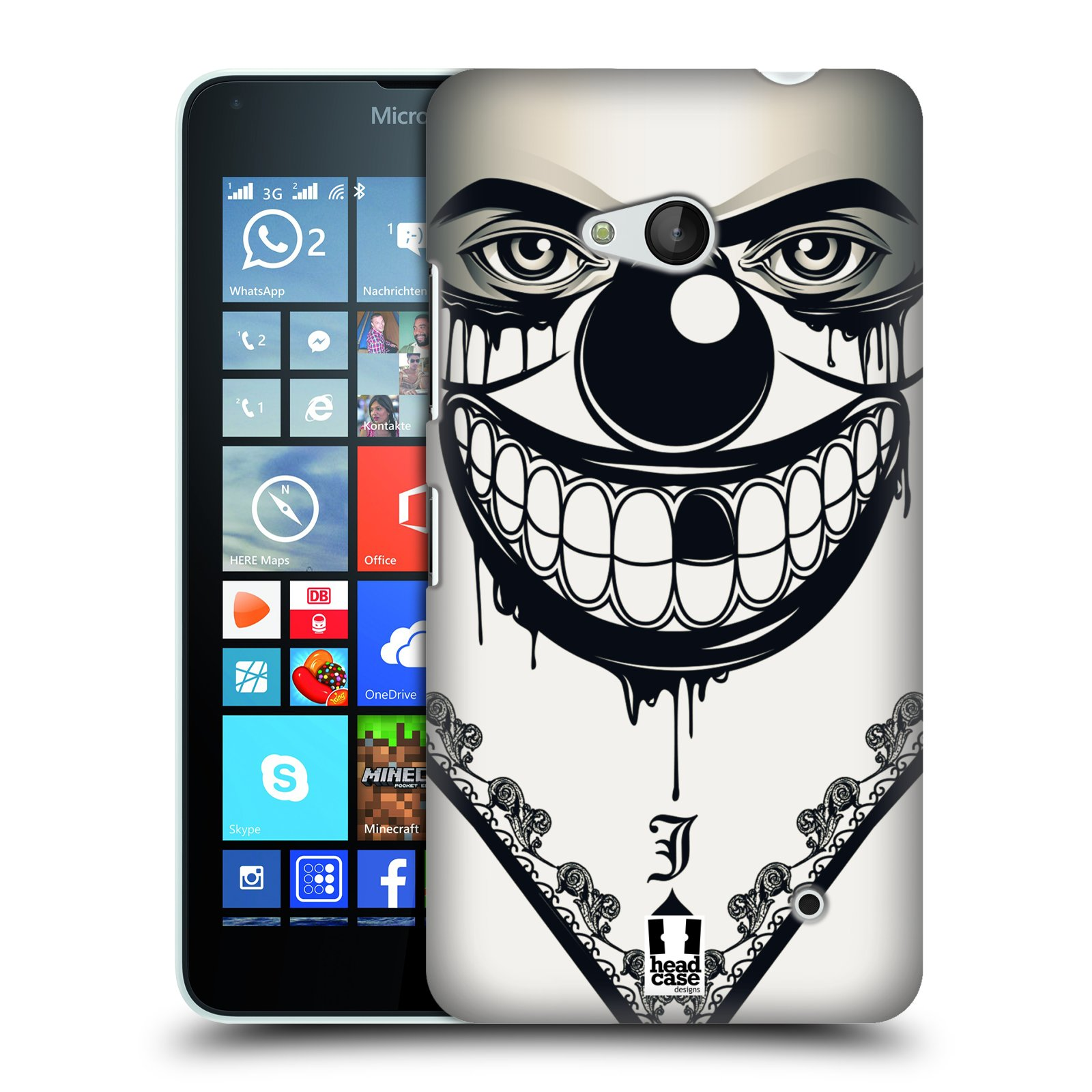 Plastové pouzdro na mobil Microsoft Lumia 640 HEAD CASE ZLEJ KLAUN