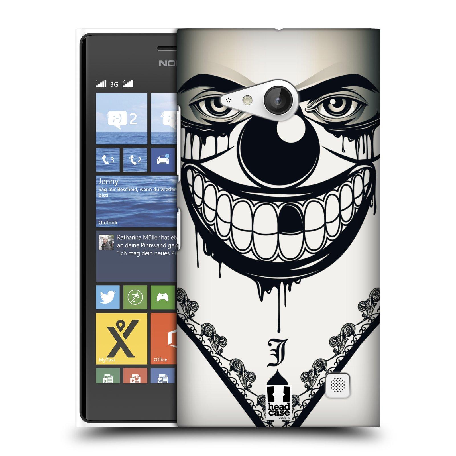 Plastové pouzdro na mobil Nokia Lumia 735 HEAD CASE ZLEJ KLAUN