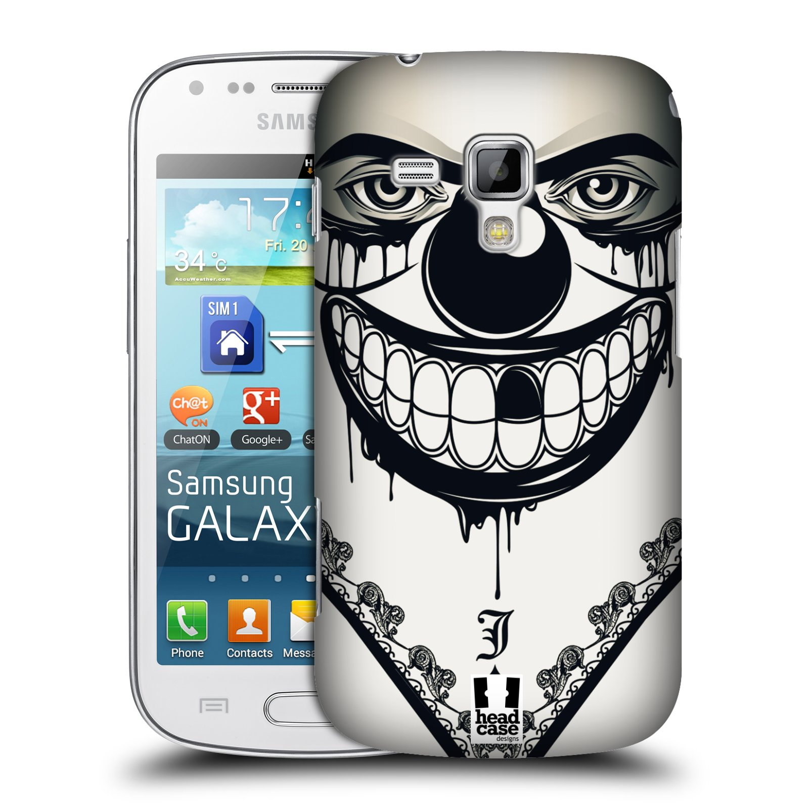 Plastové pouzdro na mobil Samsung Galaxy Trend Plus HEAD CASE ZLEJ KLAUN