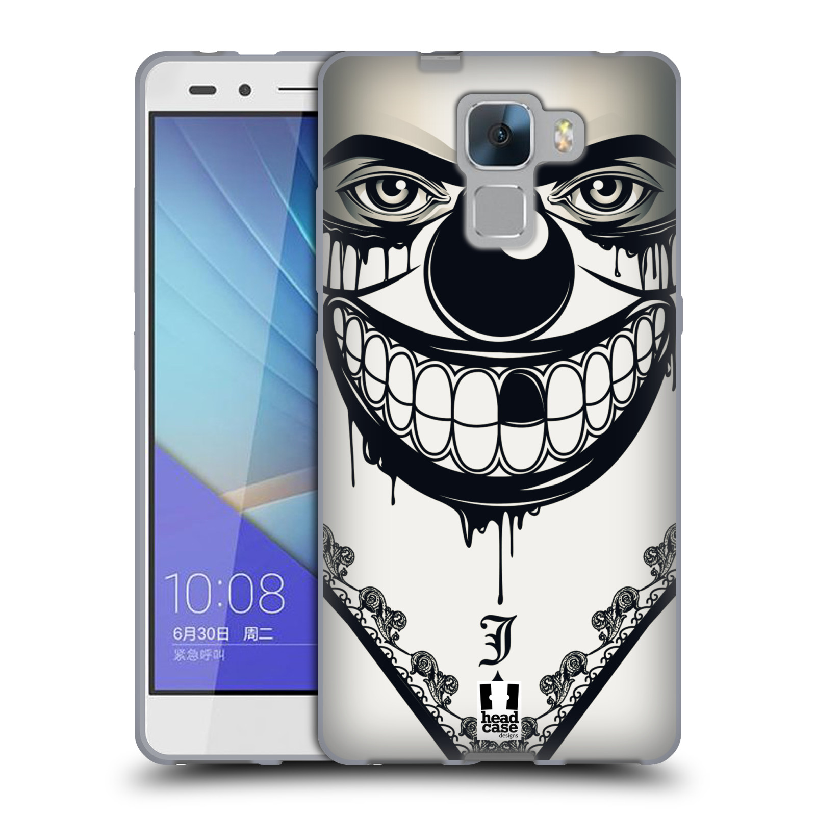 Silikonové pouzdro na mobil Honor 7 HEAD CASE ZLEJ KLAUN