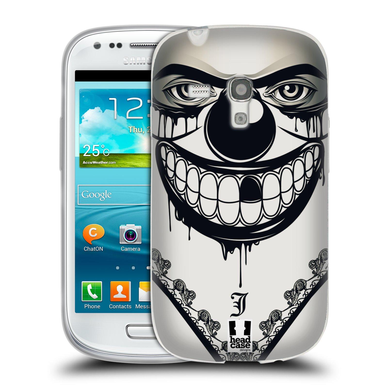 Silikonové pouzdro na mobil Samsung Galaxy S III Mini HEAD CASE ZLEJ KLAUN (Silikonový kryt či obal na mobilní telefon Samsung Galaxy S III Mini GT-i8190)