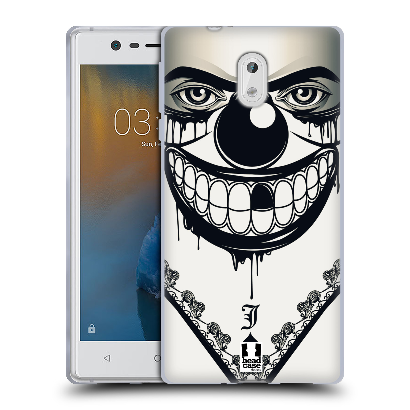 Silikonové pouzdro na mobil Nokia 3 Head Case - ZLEJ KLAUN