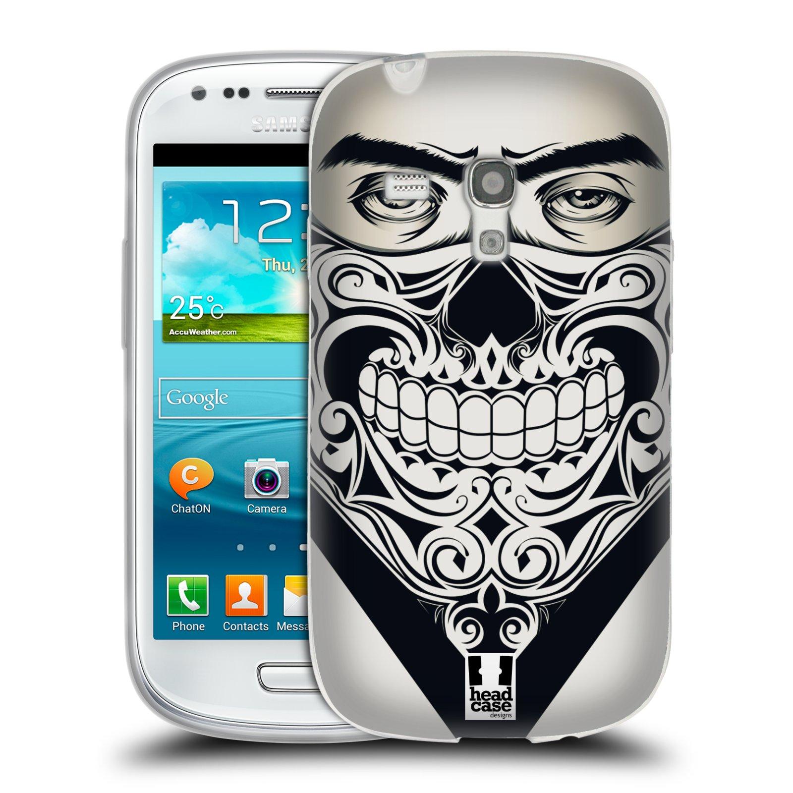 Silikonové pouzdro na mobil Samsung Galaxy S III Mini HEAD CASE LEBKA BANDANA (Silikonový kryt či obal na mobilní telefon Samsung Galaxy S III Mini GT-i8190)