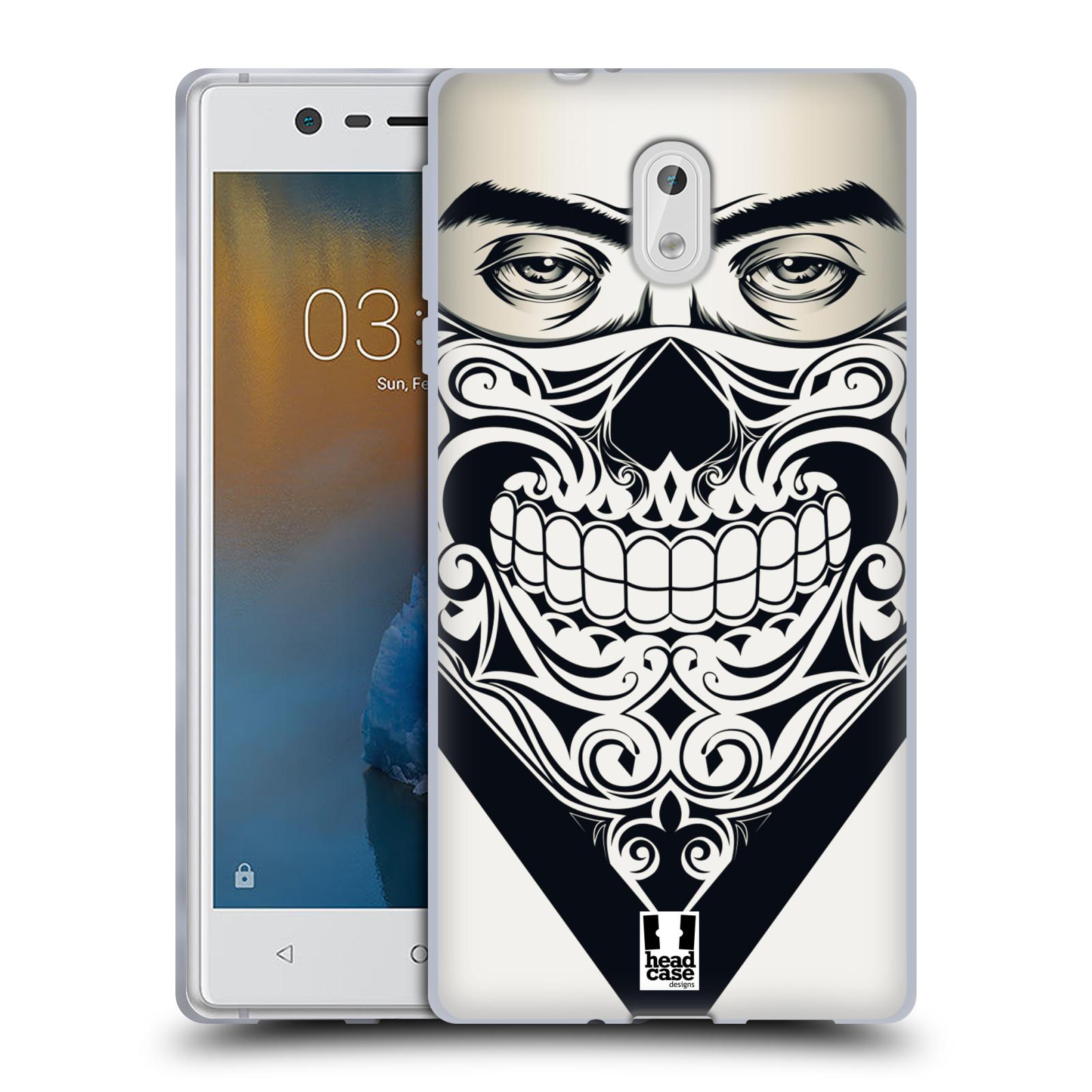 Silikonové pouzdro na mobil Nokia 3 Head Case - LEBKA BANDANA