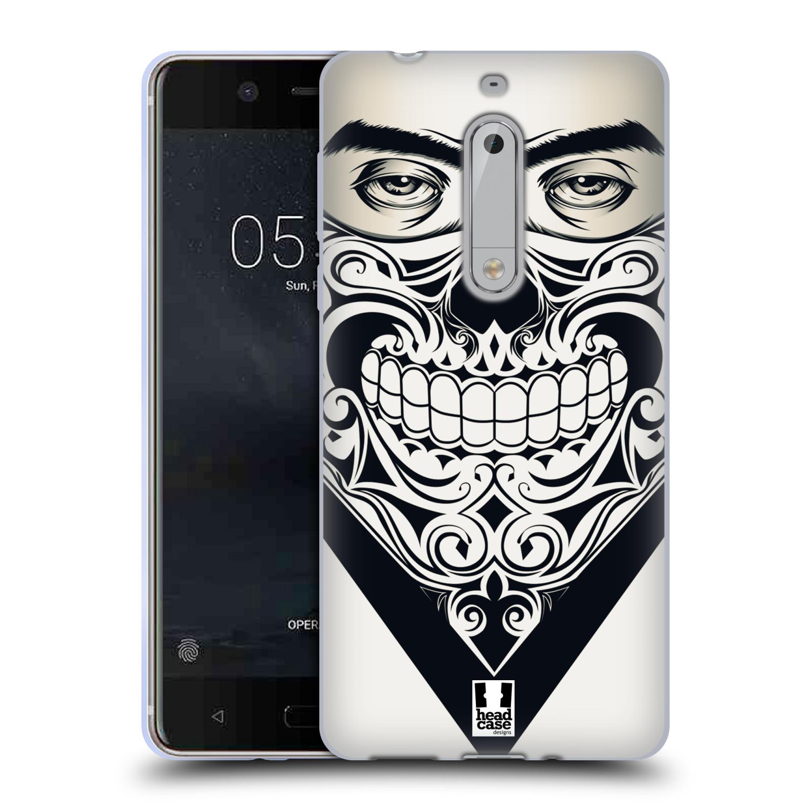 Silikonové pouzdro na mobil Nokia 5 Head Case - LEBKA BANDANA