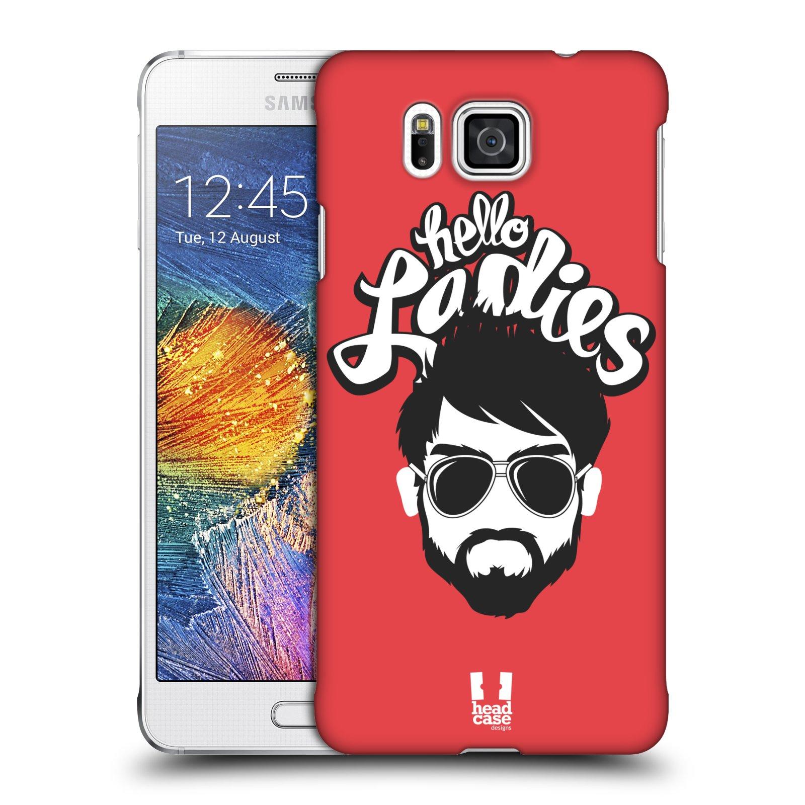Plastové pouzdro na mobil Samsung Galaxy Alpha HEAD CASE KNÍRAČ HELLO LADIES (Kryt či obal na mobilní telefon Samsung Galaxy Alpha SM-G850)