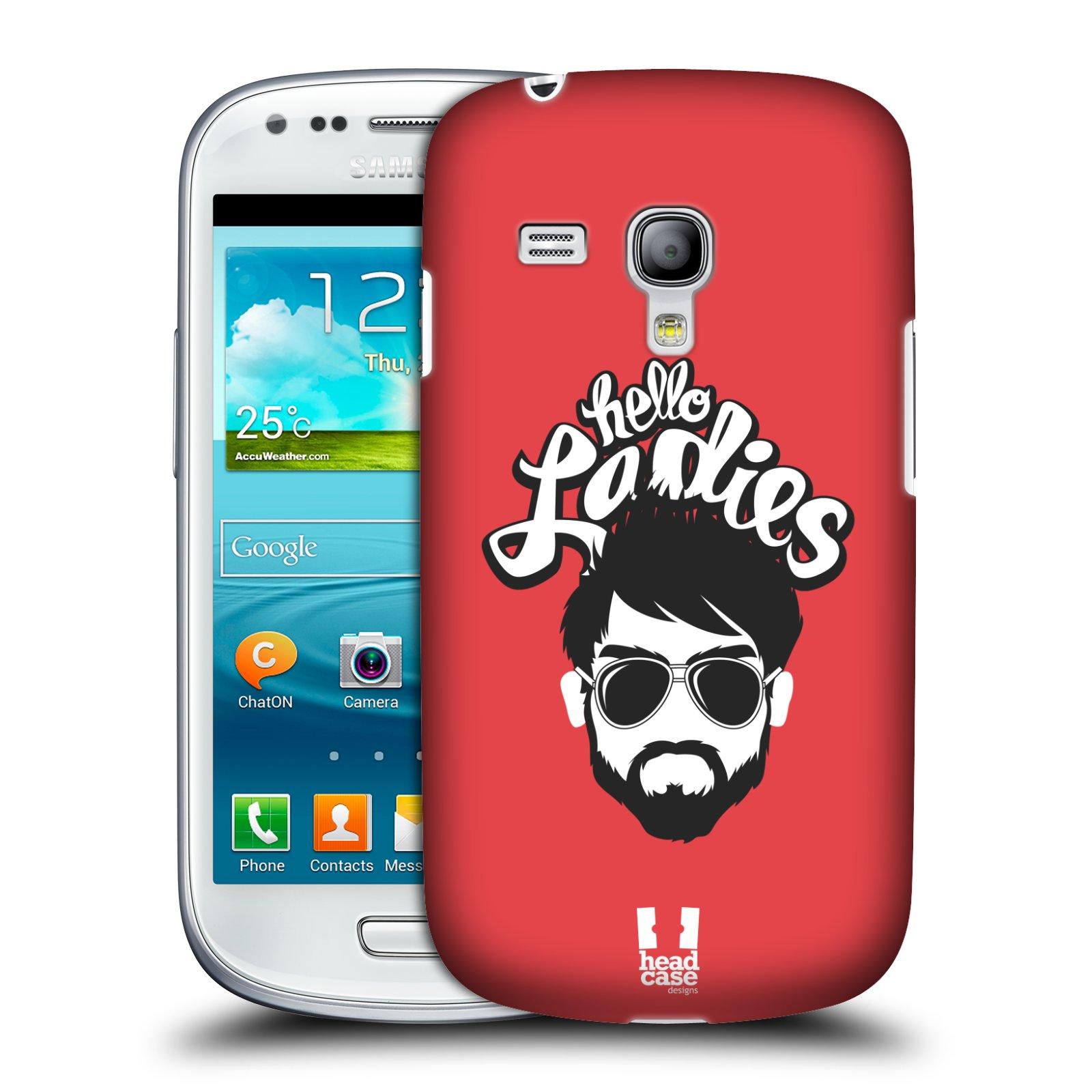 Plastové pouzdro na mobil Samsung Galaxy S III Mini HEAD CASE KNÍRAČ HELLO LADIES (Kryt či obal na mobilní telefon Samsung Galaxy S III Mini GT-i8190)