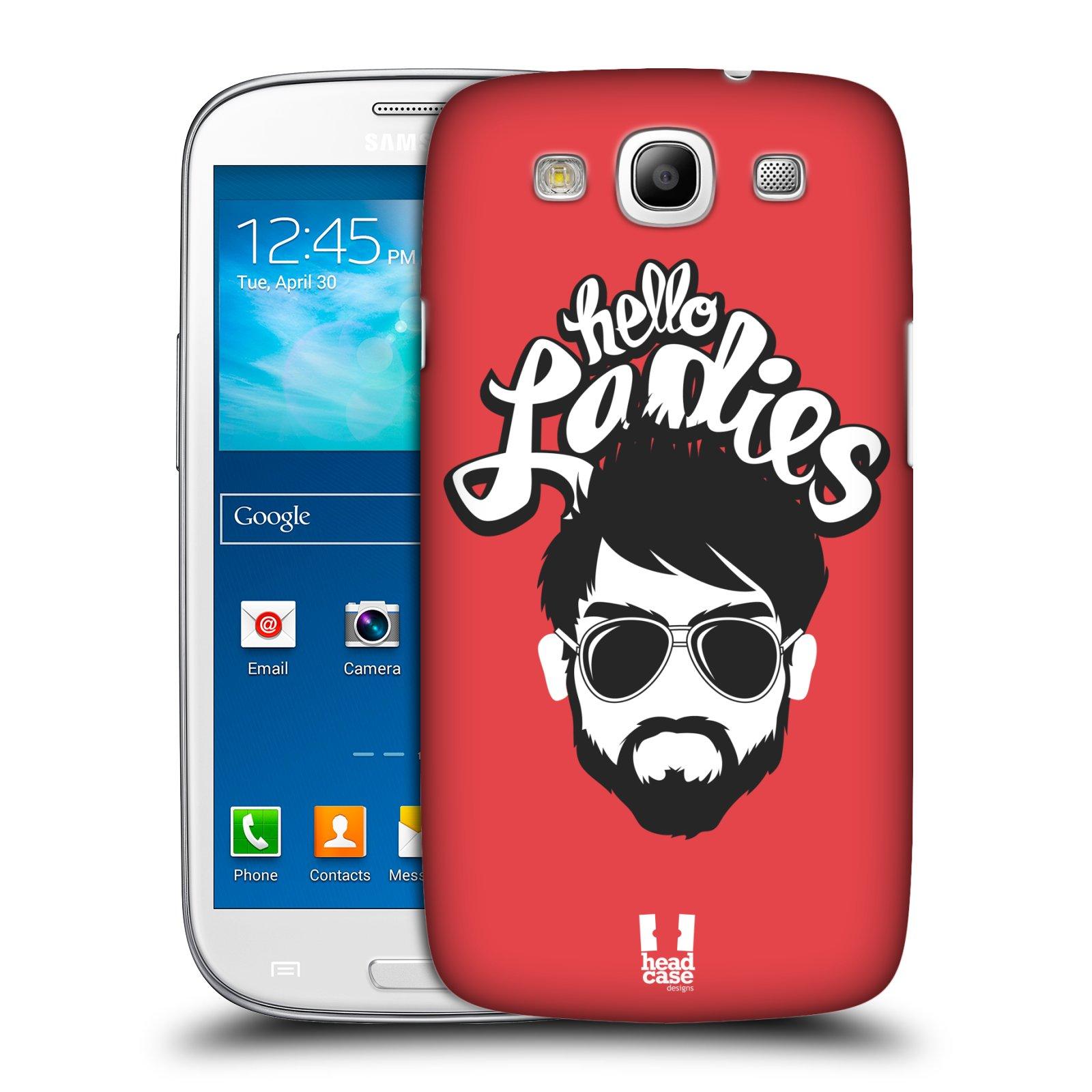 Plastové pouzdro na mobil Samsung Galaxy S III HEAD CASE KNÍRAČ HELLO LADIES (Kryt či obal na mobilní telefon Samsung Galaxy S III GT-i9300)
