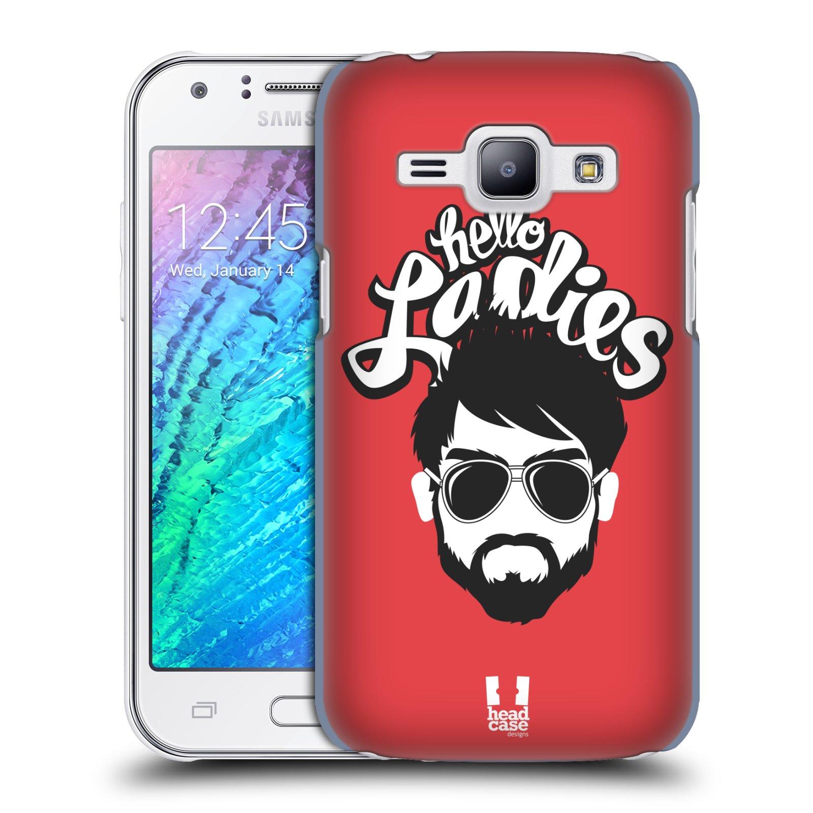 Plastové pouzdro na mobil Samsung Galaxy J1 HEAD CASE KNÍRAČ HELLO LADIES (Kryt či obal na mobilní telefon Samsung Galaxy J1 a J1 Duos )