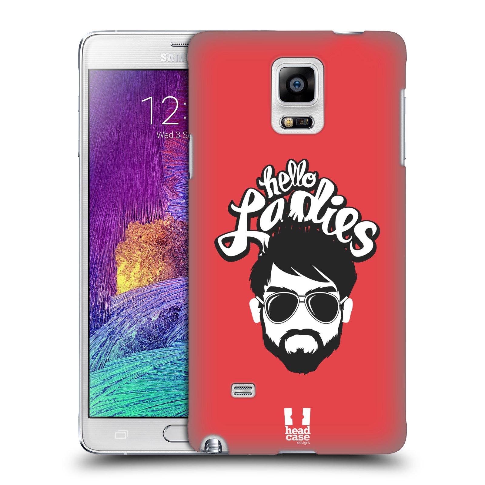 Plastové pouzdro na mobil Samsung Galaxy Note 4 HEAD CASE KNÍRAČ HELLO LADIES (Kryt či obal na mobilní telefon Samsung Galaxy Note 4 SM-N910F)