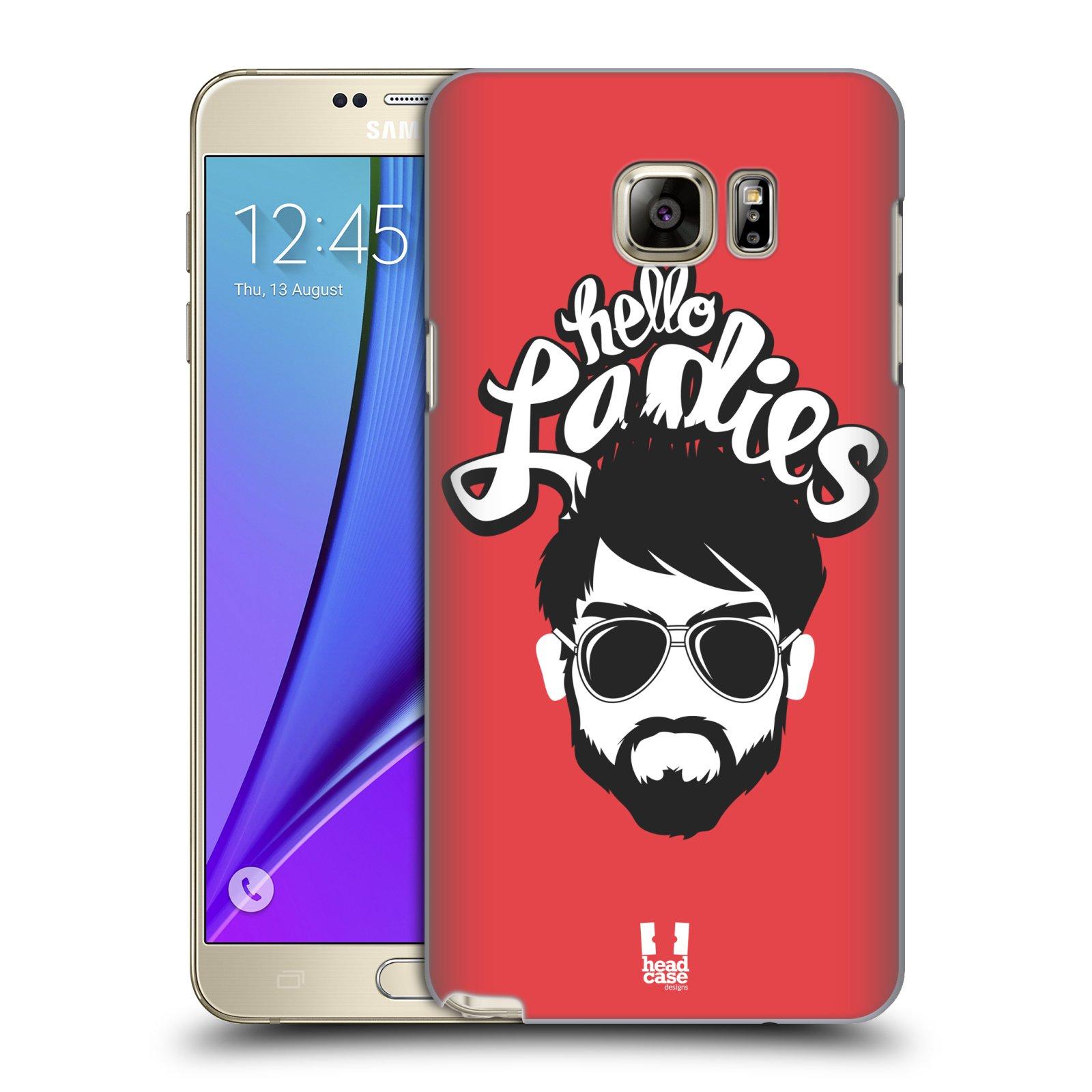 Plastové pouzdro na mobil Samsung Galaxy Note 5 HEAD CASE KNÍRAČ HELLO LADIES (Kryt či obal na mobilní telefon Samsung Galaxy Note 5 SM-N920)