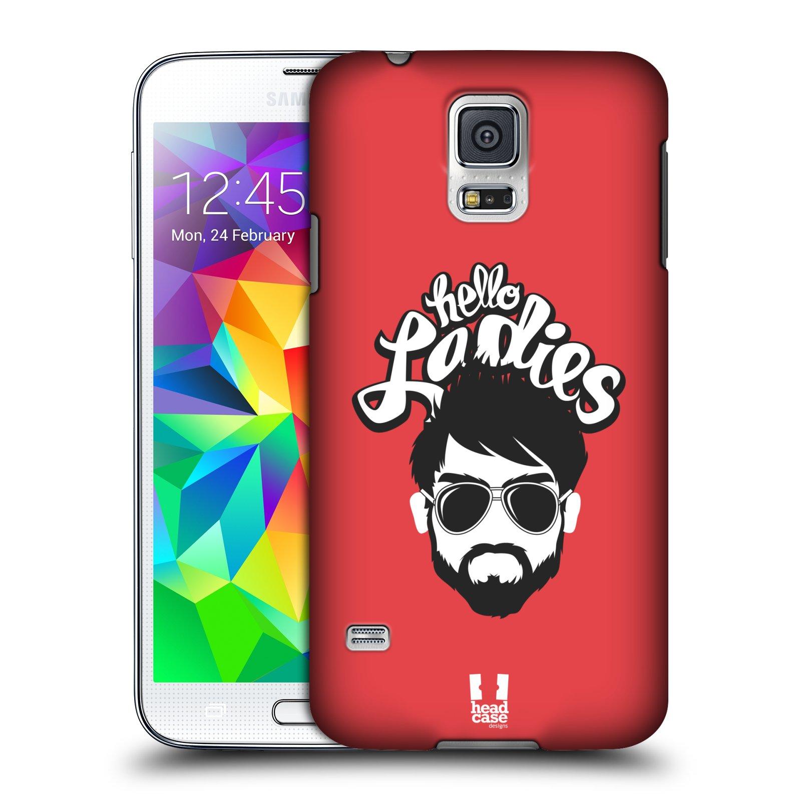 Plastové pouzdro na mobil Samsung Galaxy S5 HEAD CASE KNÍRAČ HELLO LADIES (Kryt či obal na mobilní telefon Samsung Galaxy S5 SM-G900F)