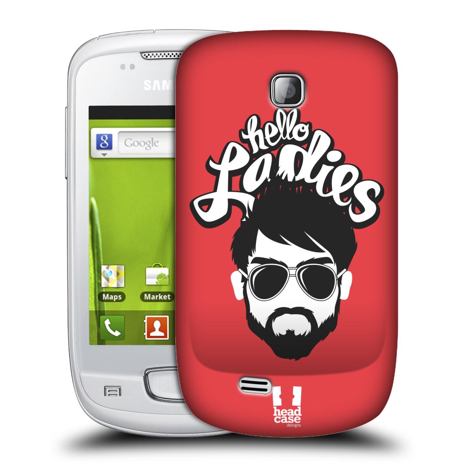 Plastové pouzdro na mobil Samsung Galaxy Mini HEAD CASE KNÍRAČ HELLO LADIES (Kryt či obal na mobilní telefon Samsung Galaxy Mini GT-S5570 / GT-S5570i)