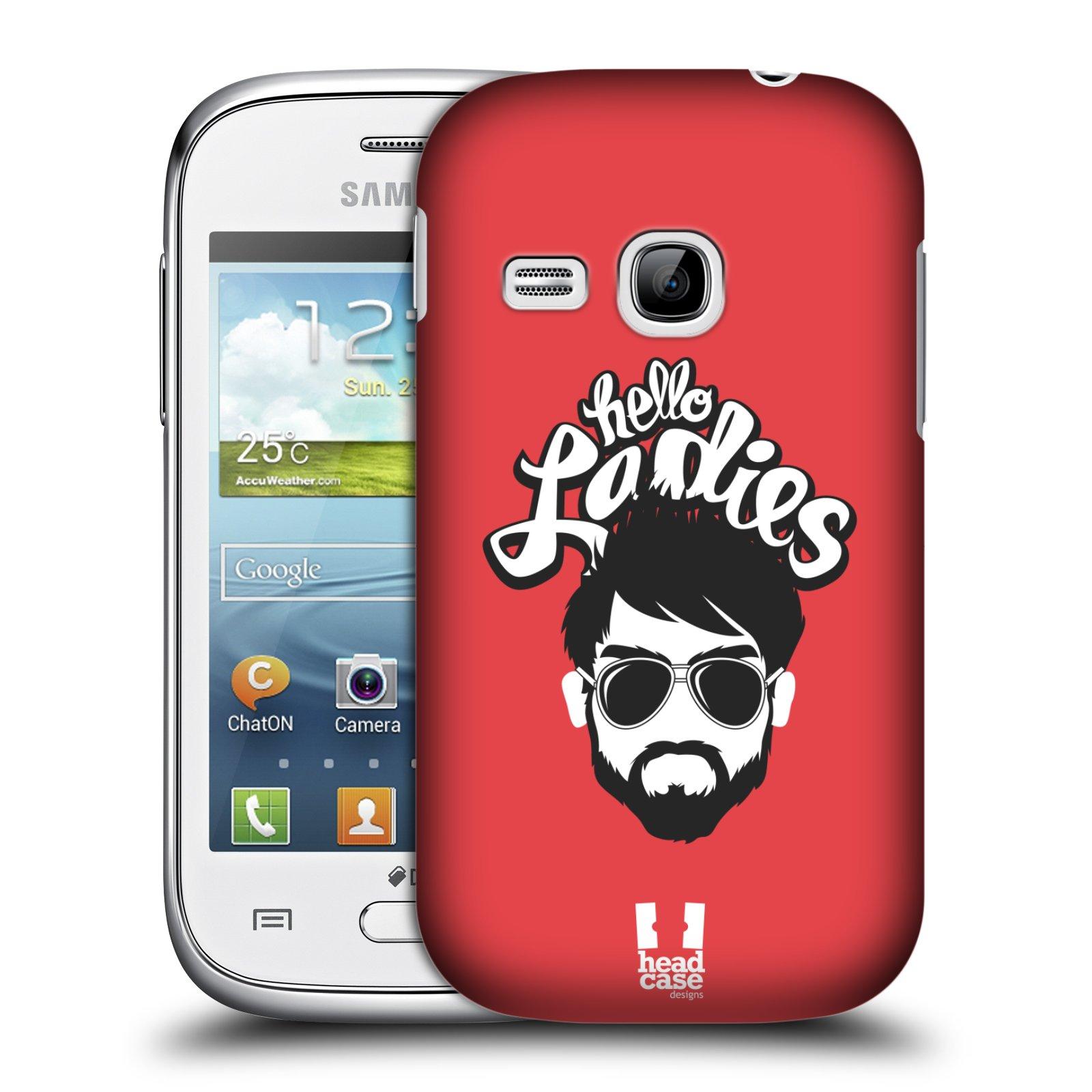 Plastové pouzdro na mobil Samsung Galaxy Young HEAD CASE KNÍRAČ HELLO LADIES (Kryt či obal na mobilní telefon Samsung Galaxy Young GT-S6310)