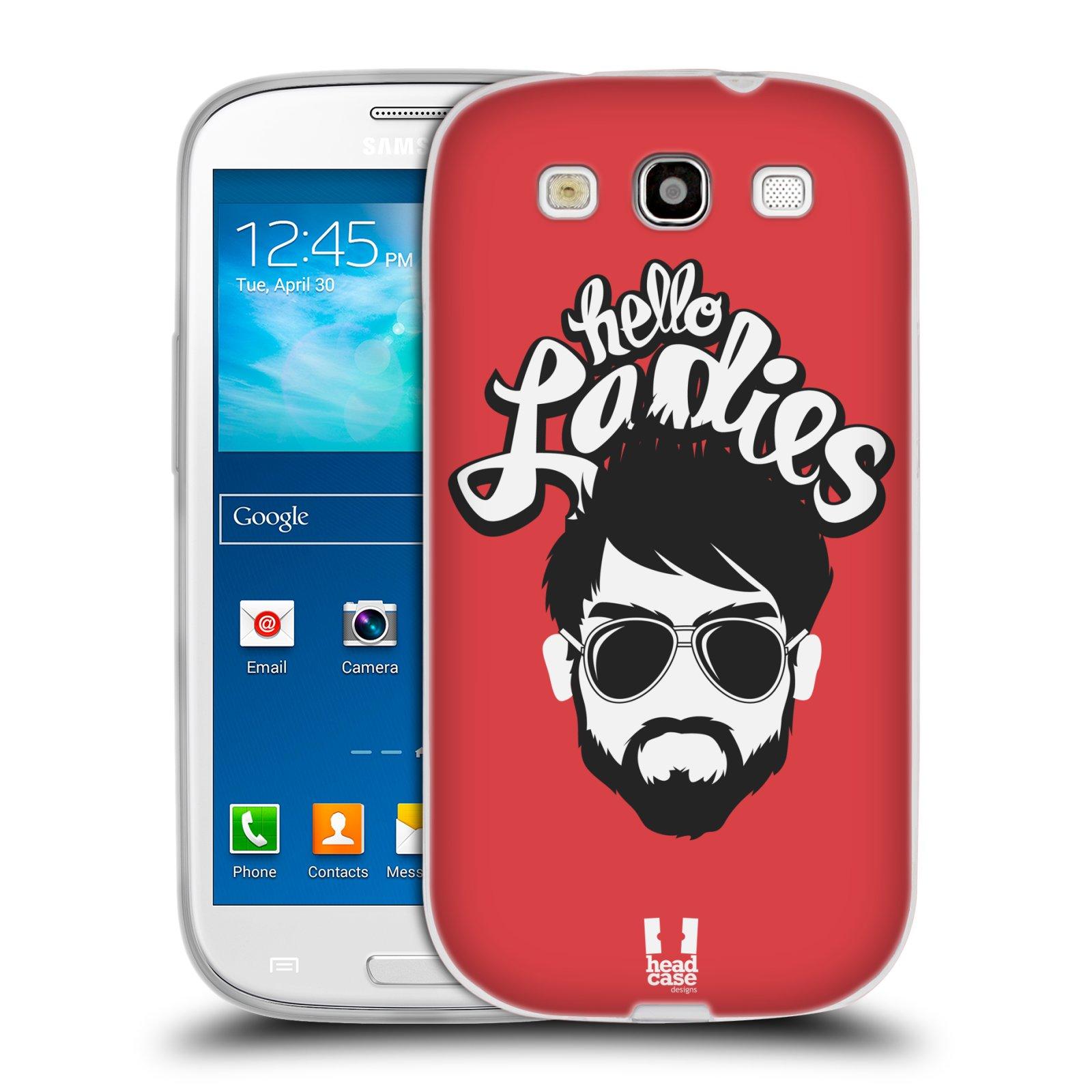 Silikonové pouzdro na mobil Samsung Galaxy S III HEAD CASE KNÍRAČ HELLO LADIES (Silikonový kryt či obal na mobilní telefon Samsung Galaxy S III GT-i9300)