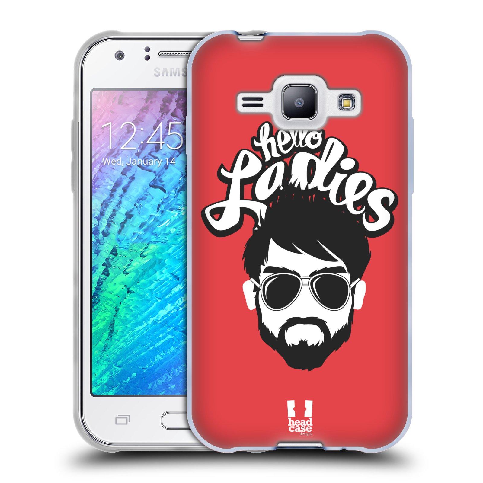 Silikonové pouzdro na mobil Samsung Galaxy J1 HEAD CASE KNÍRAČ HELLO LADIES (Silikonový kryt či obal na mobilní telefon Samsung Galaxy J1 a J1 Duos)