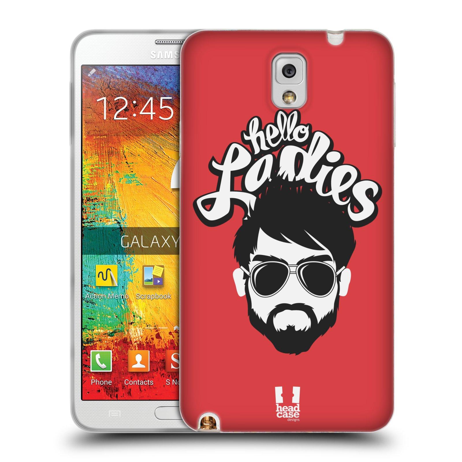 Silikonové pouzdro na mobil Samsung Galaxy Note 3 HEAD CASE KNÍRAČ HELLO LADIES (Silikonový kryt či obal na mobilní telefon Samsung Galaxy Note 3 SM-N9005)