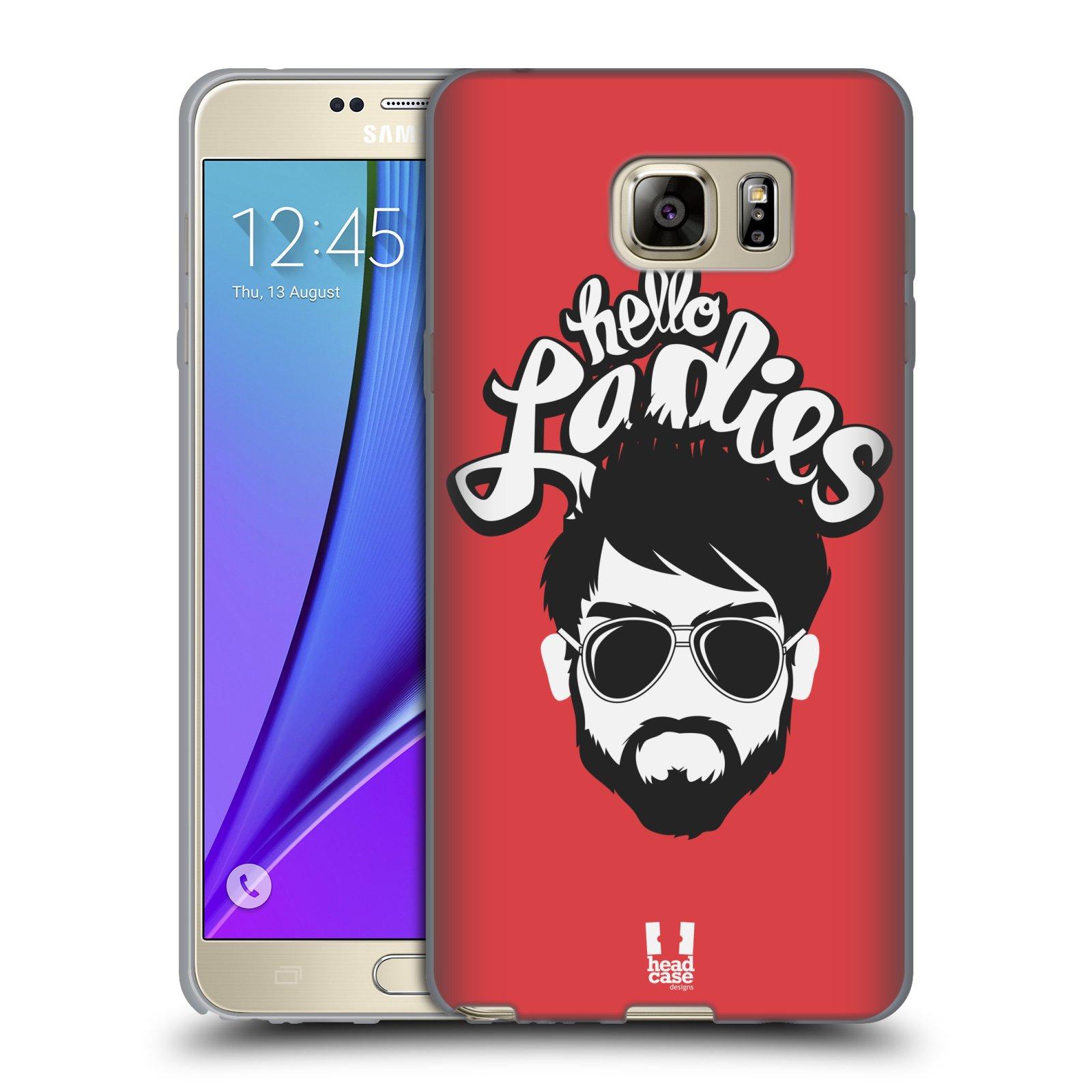 Silikonové pouzdro na mobil Samsung Galaxy Note 5 HEAD CASE KNÍRAČ HELLO LADIES (Silikonový kryt či obal na mobilní telefon Samsung Galaxy Note 5 SM-N920)