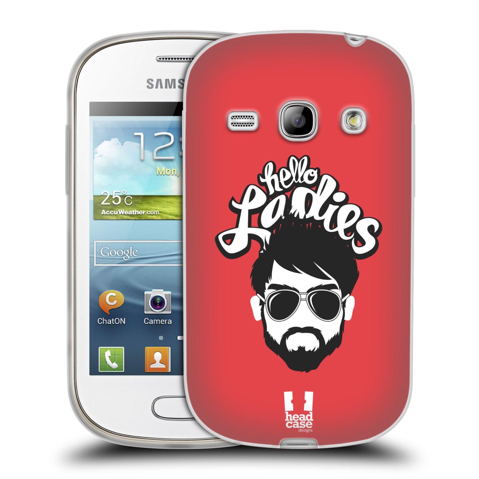 Silikonové pouzdro na mobil Samsung Galaxy Fame HEAD CASE KNÍRAČ HELLO LADIES (Silikonový kryt či obal na mobilní telefon Samsung Galaxy Fame GT-S6810)