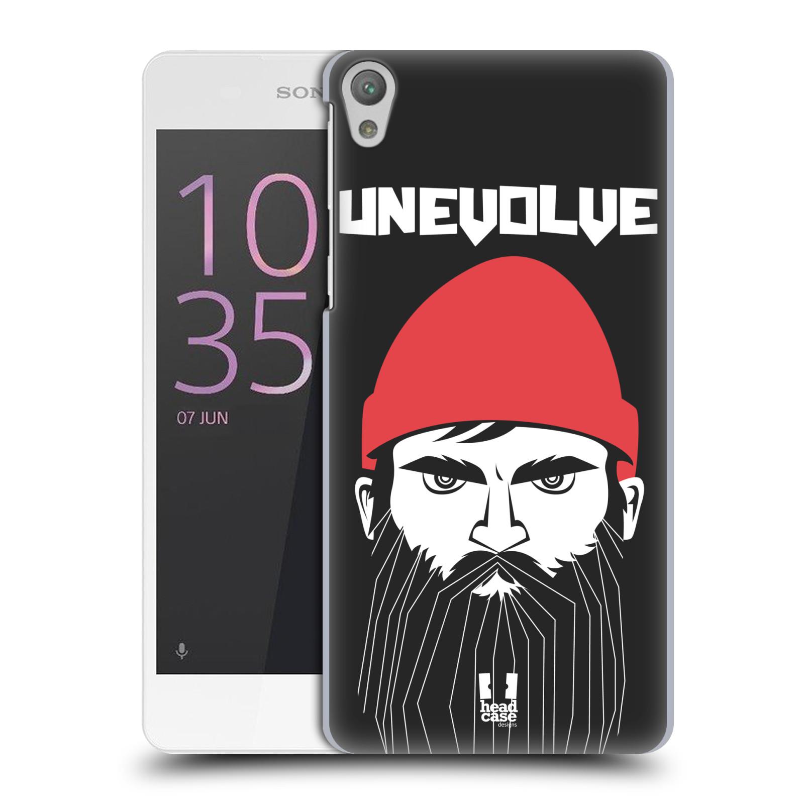 Plastové pouzdro na mobil Sony Xperia E5 HEAD CASE KNÍRAČ UNEVOLVE
