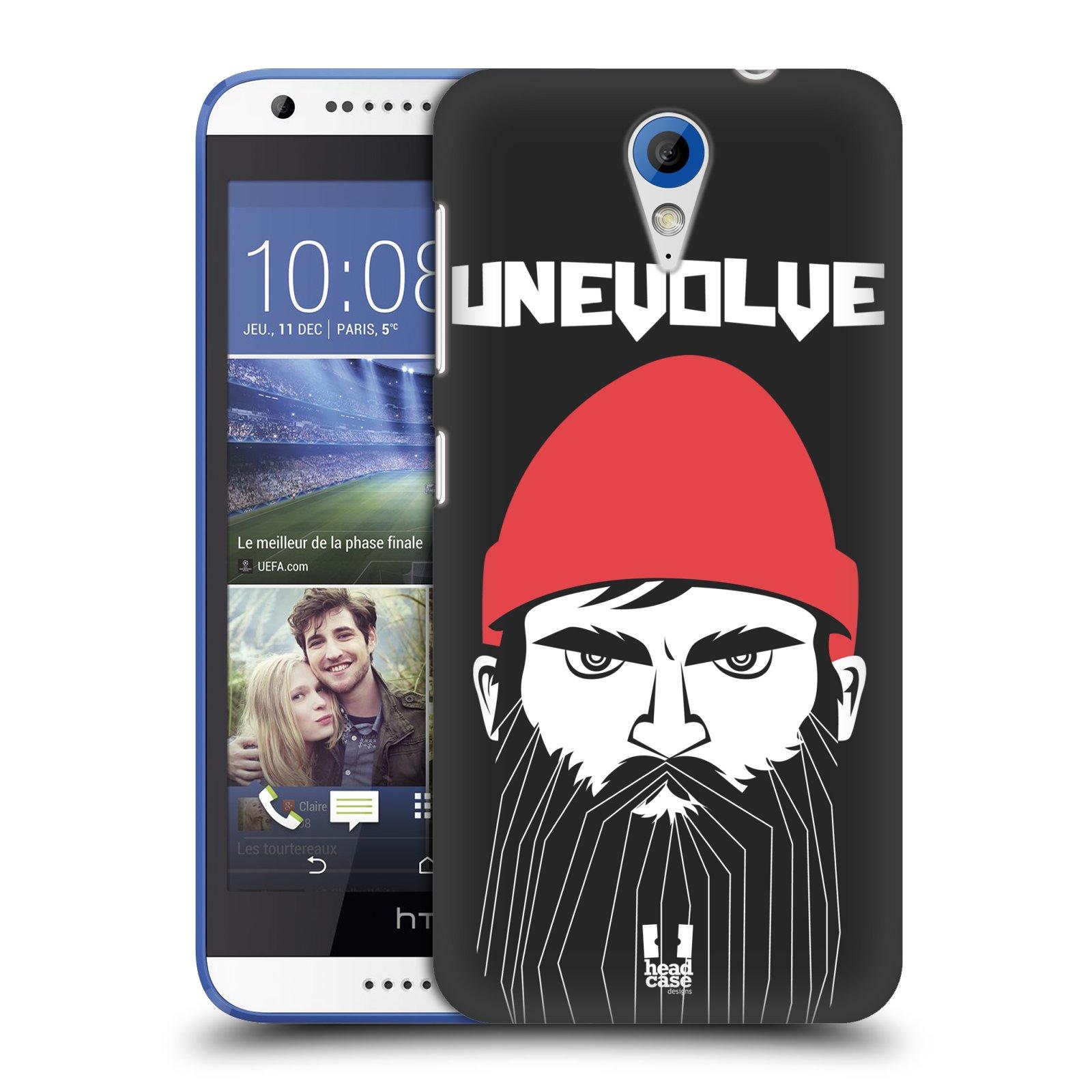 Plastové pouzdro na mobil HTC Desire 620 HEAD CASE KNÍRAČ UNEVOLVE