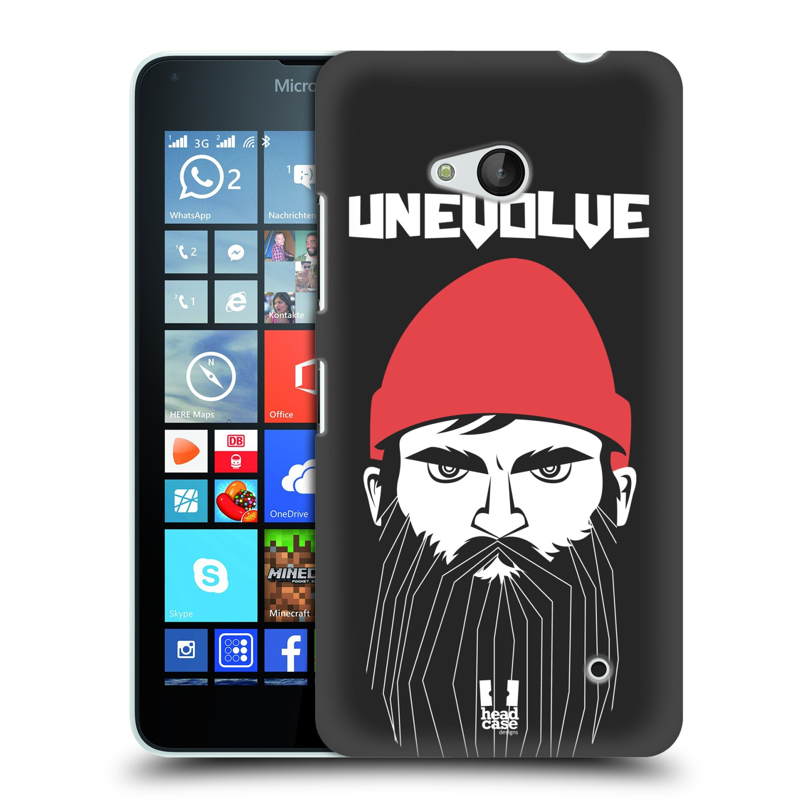Plastové pouzdro na mobil Microsoft Lumia 640 HEAD CASE KNÍRAČ UNEVOLVE