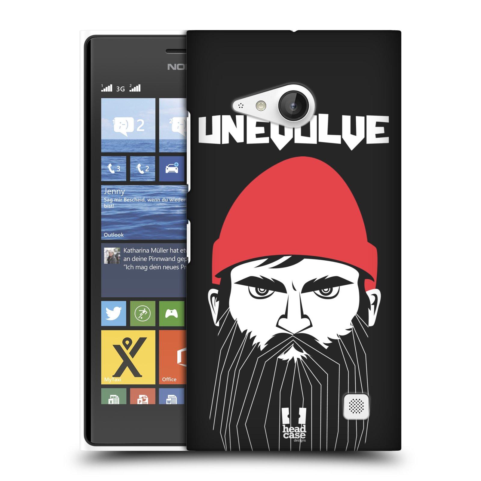 Plastové pouzdro na mobil Nokia Lumia 730 Dual SIM HEAD CASE KNÍRAČ UNEVOLVE