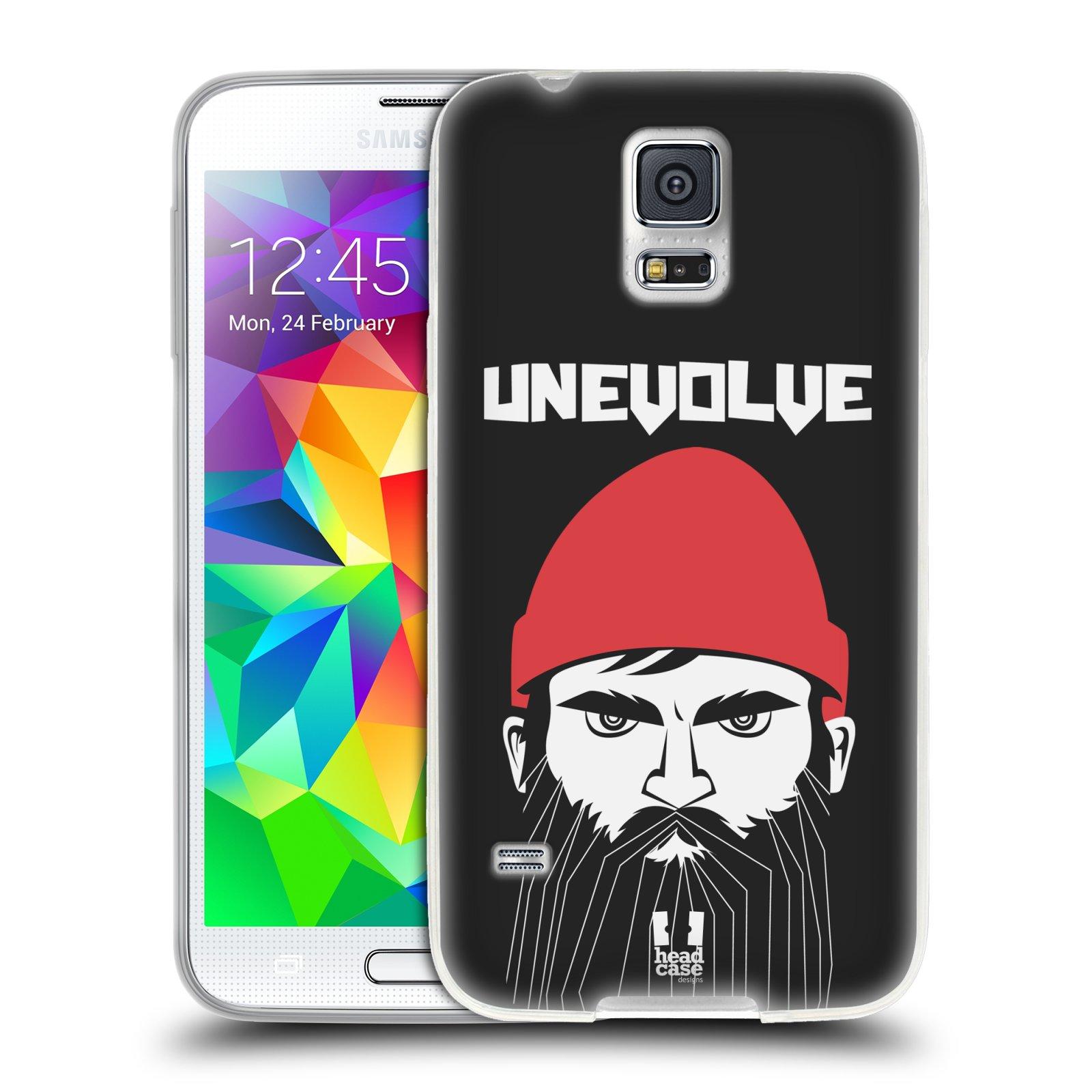 Silikonové pouzdro na mobil Samsung Galaxy S5 HEAD CASE KNÍRAČ UNEVOLVE